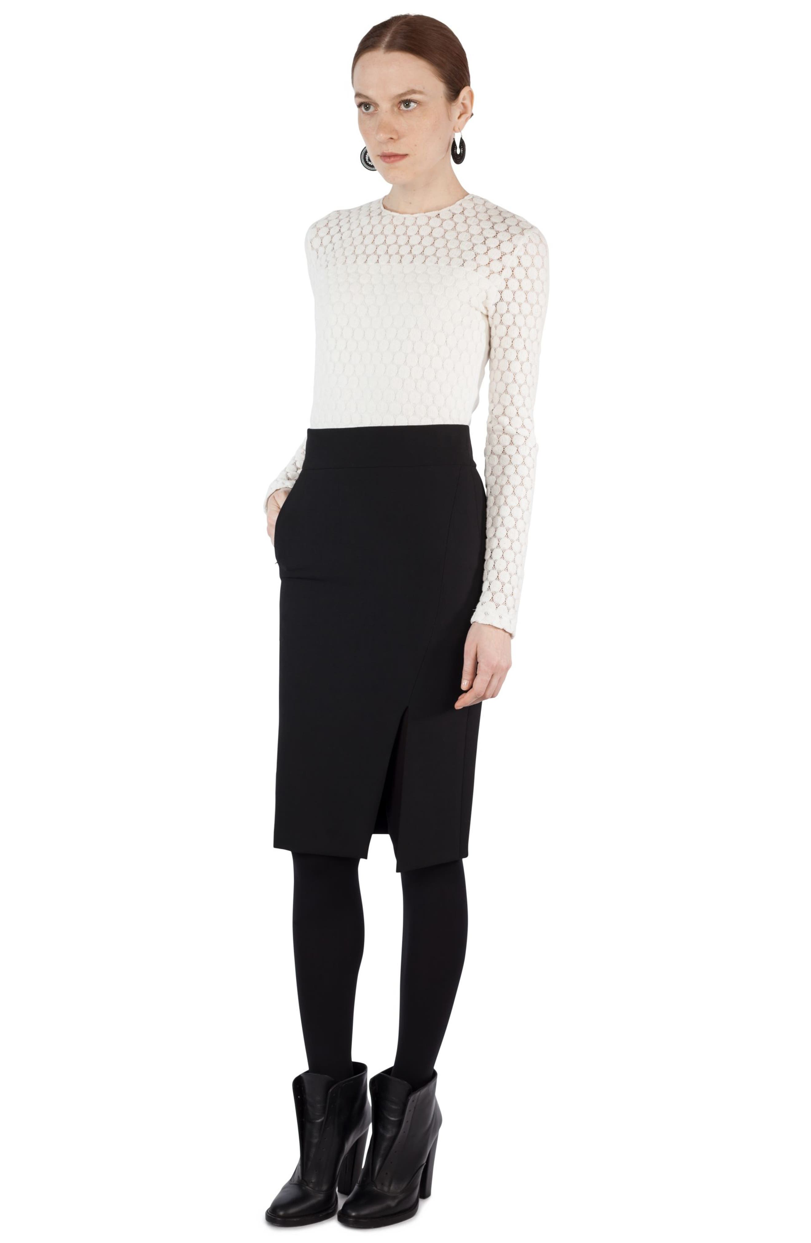 Gabardine Pencil Skirt,                             Alternate thumbnail 7, color,                             930