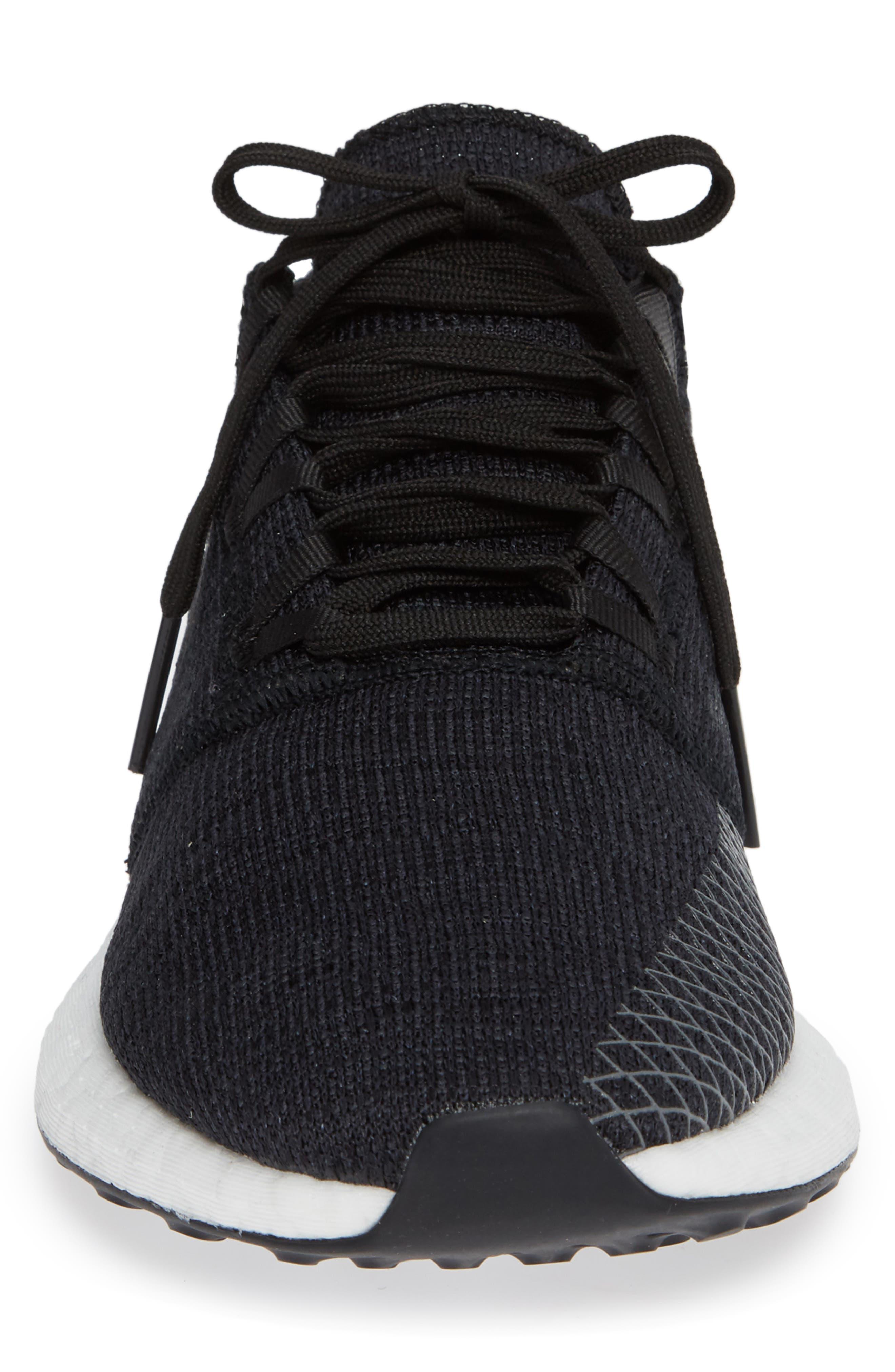 PureBoost GO Running Shoe,                             Alternate thumbnail 4, color,                             BLACK/ GREY