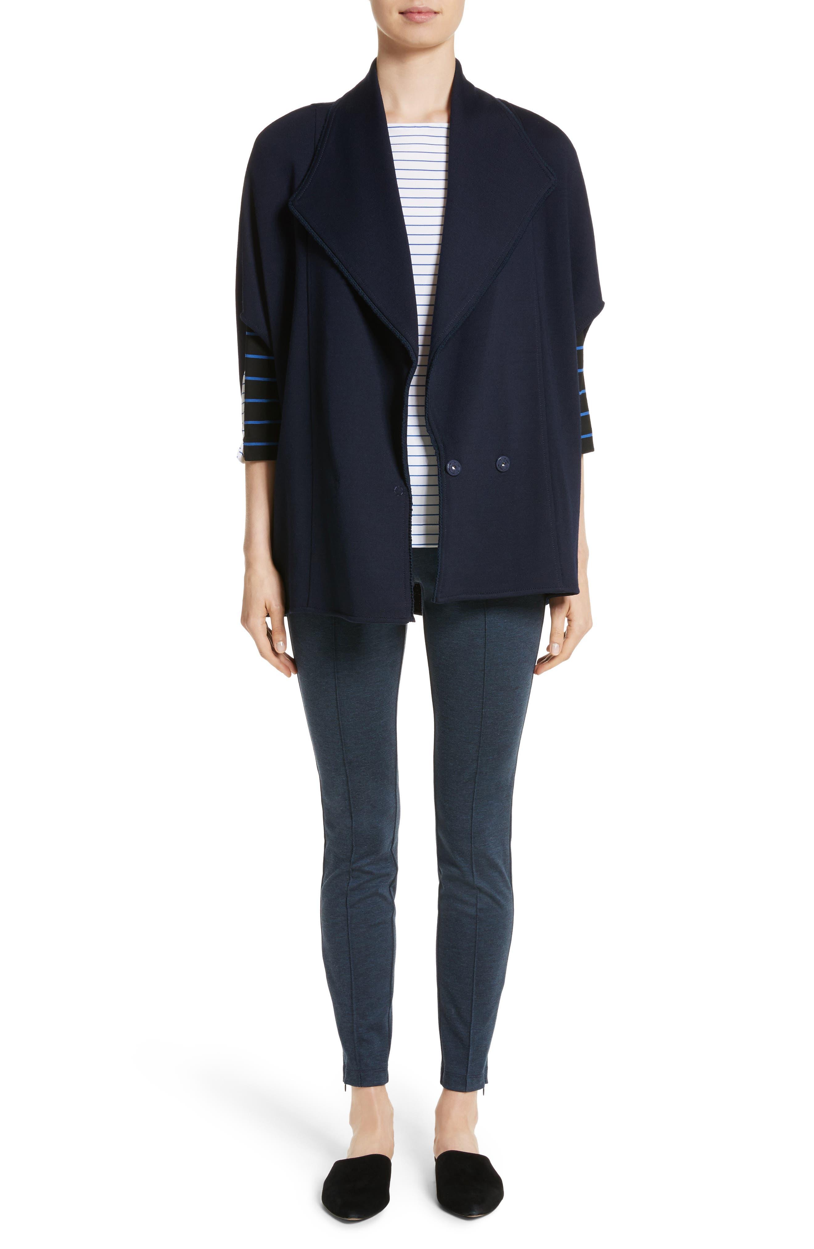 Circular Milano Knit Jacket,                             Alternate thumbnail 7, color,                             410