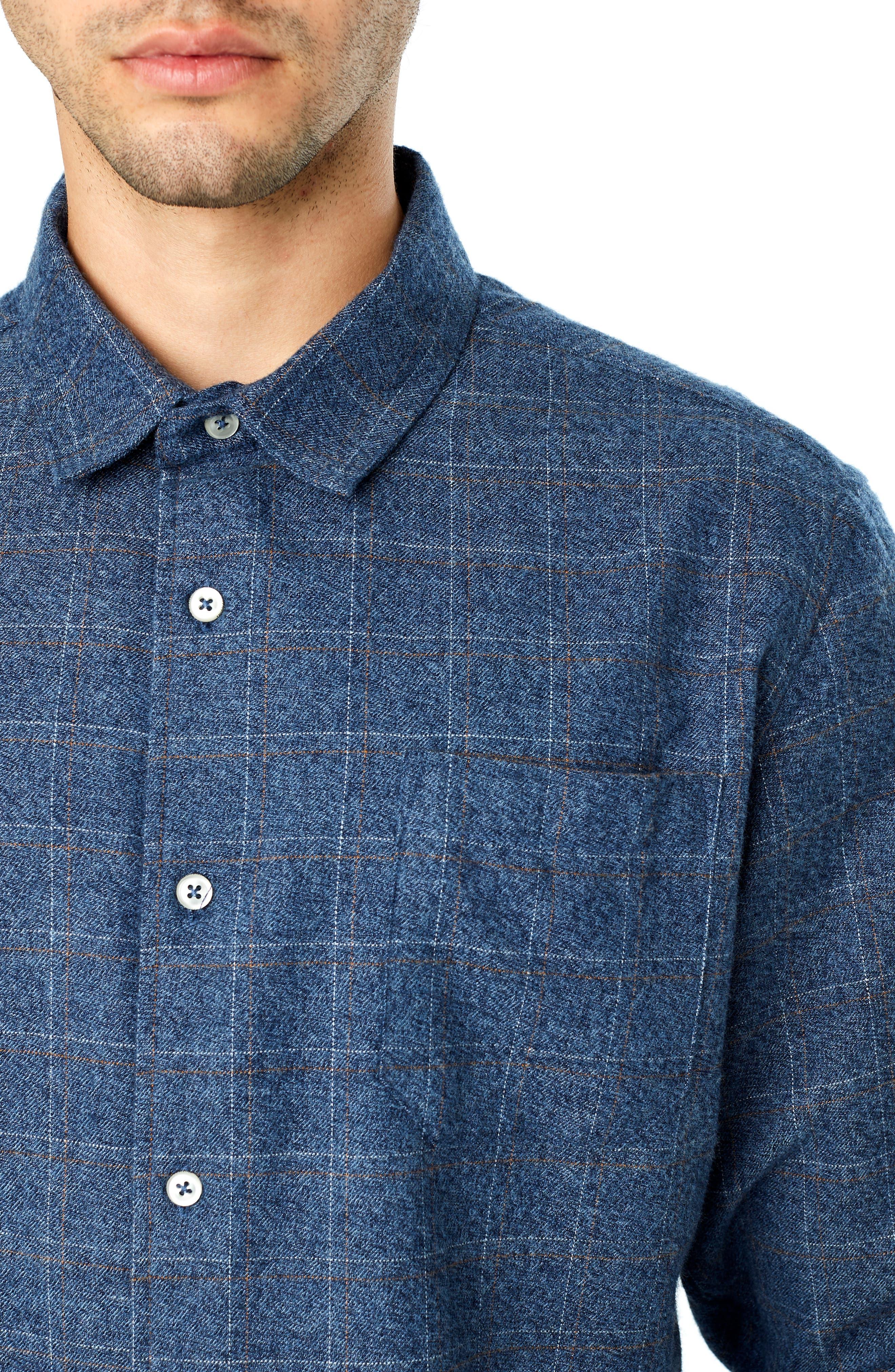 Trim Fit Check Flannel Shirt,                             Alternate thumbnail 2, color,                             410