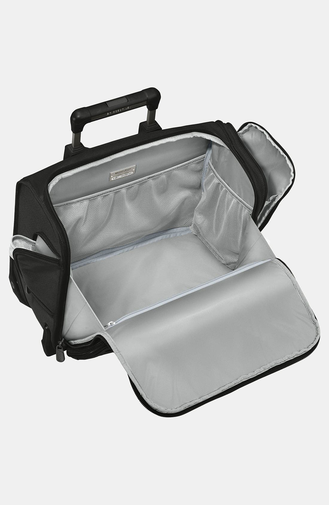 'Baseline' Rolling Cabin Bag,                             Alternate thumbnail 3, color,                             BLACK