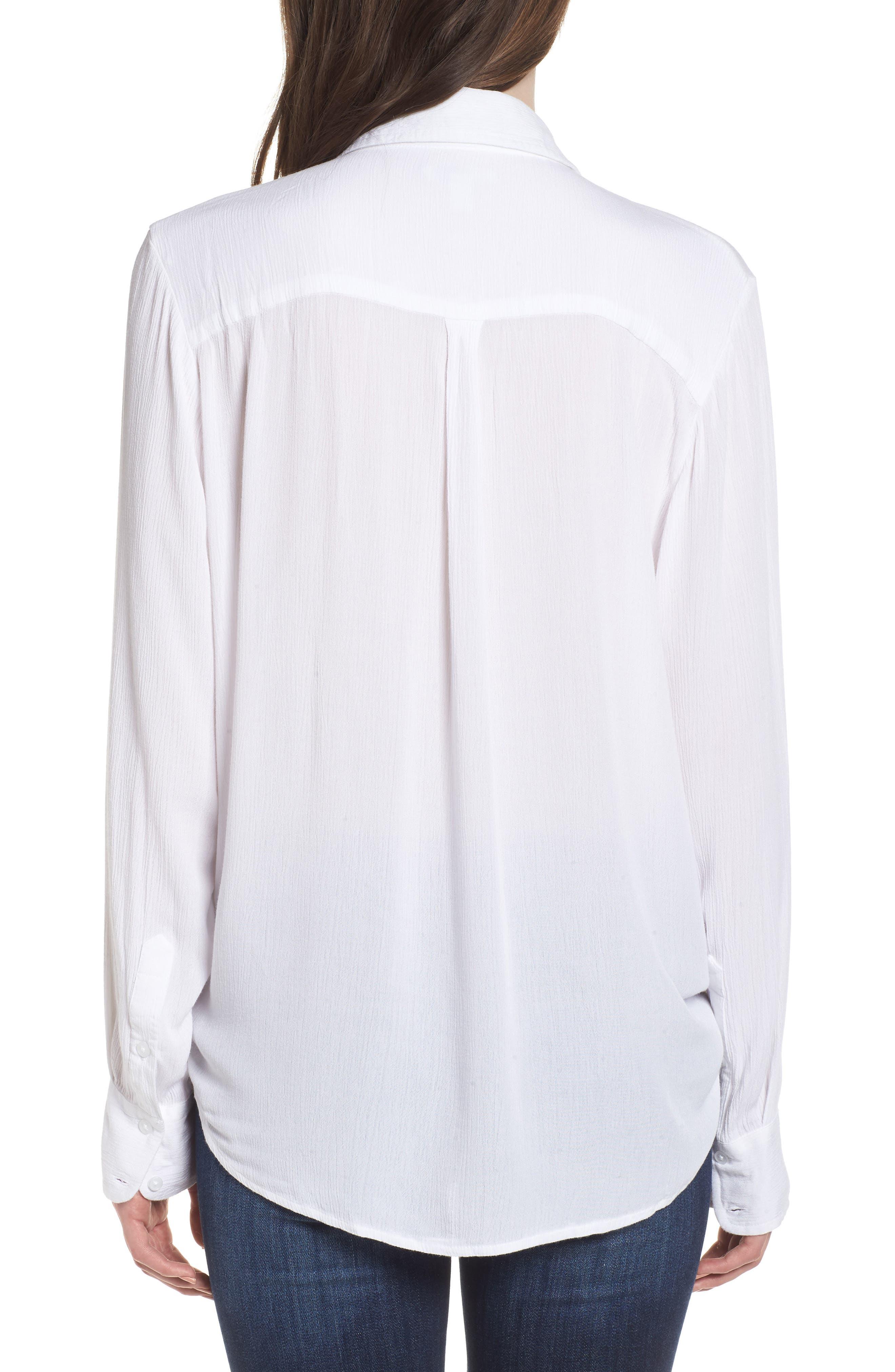 C'est La Vie Knotted Shirt,                             Alternate thumbnail 2, color,                             100