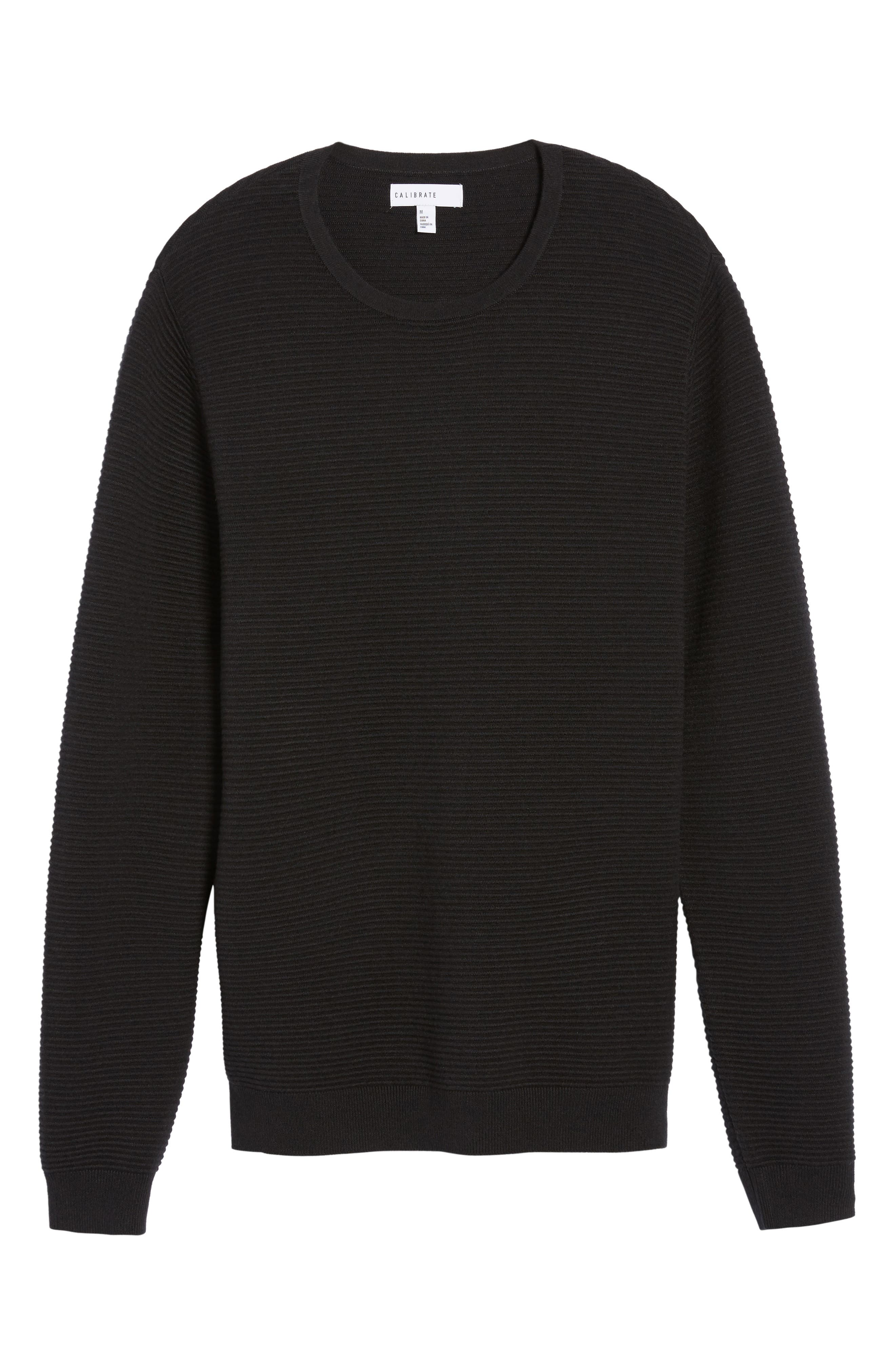 Ottoman Ribbed Crewneck Sweater,                             Alternate thumbnail 13, color,