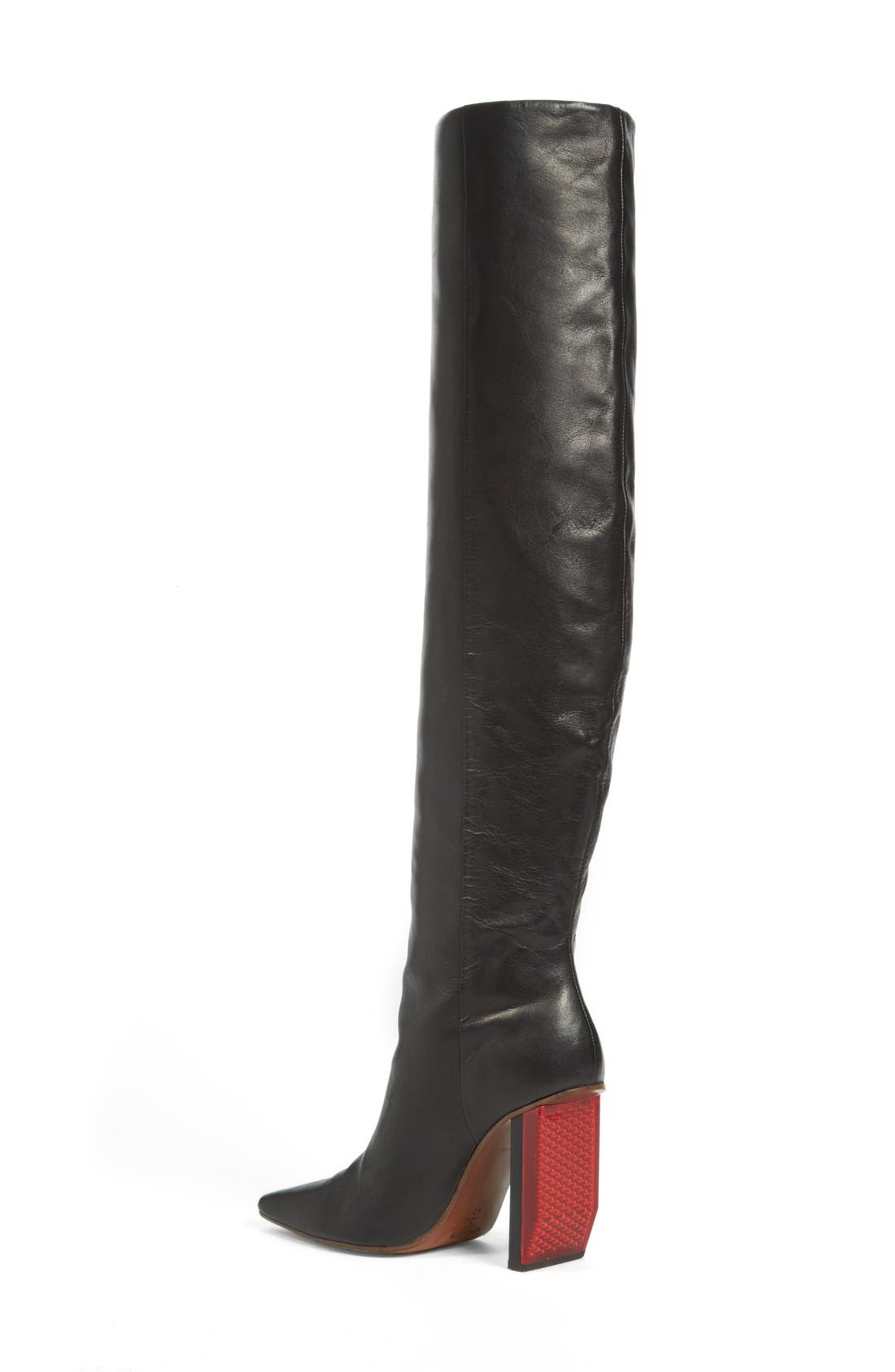 Reflector Heel Knee High Boot,                             Alternate thumbnail 2, color,                             001