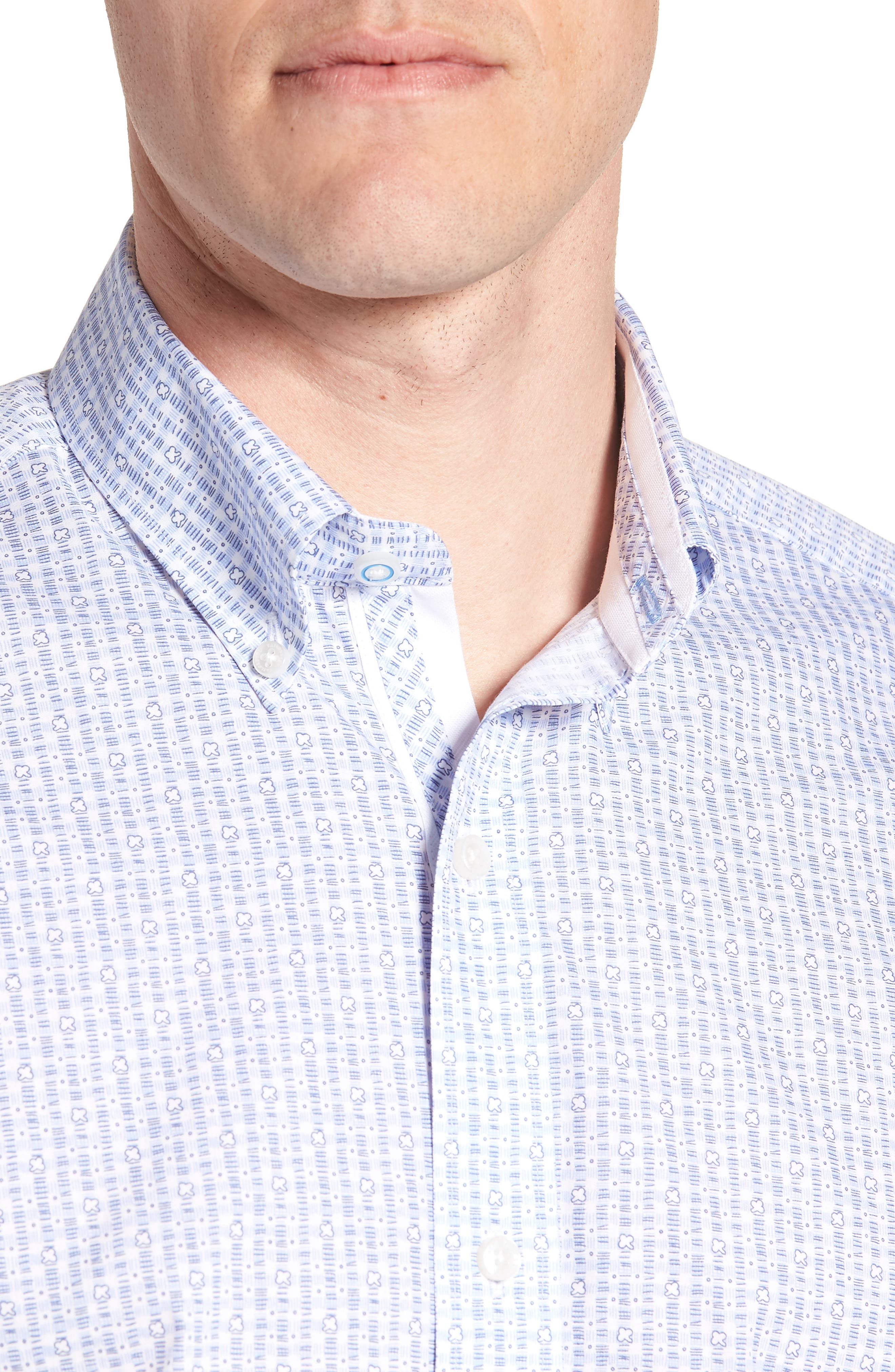 Arnie Regular Fit Sport Shirt,                             Alternate thumbnail 4, color,                             450