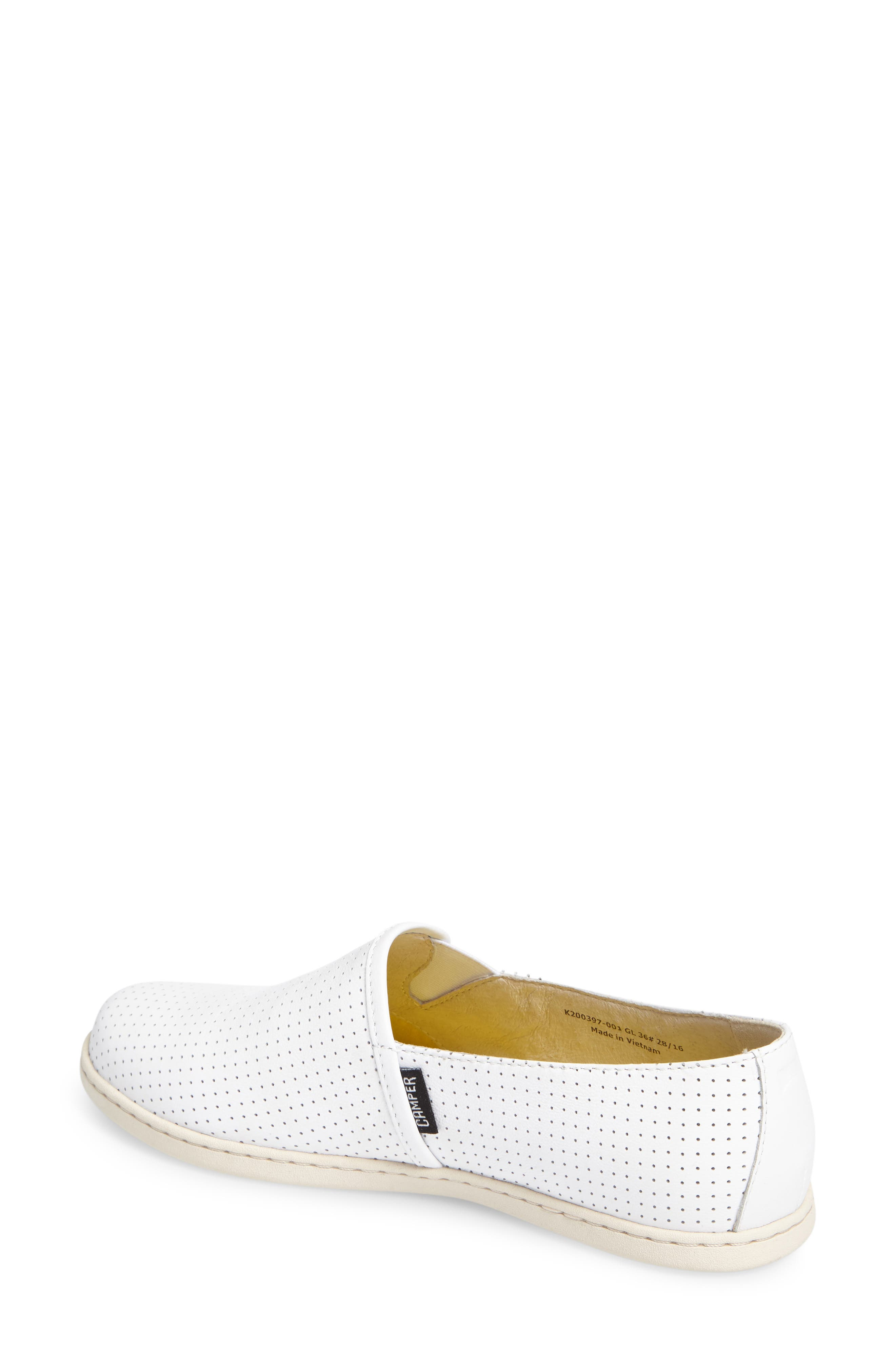 Uno Perforated Slip-On Sneaker,                             Alternate thumbnail 2, color,                             100