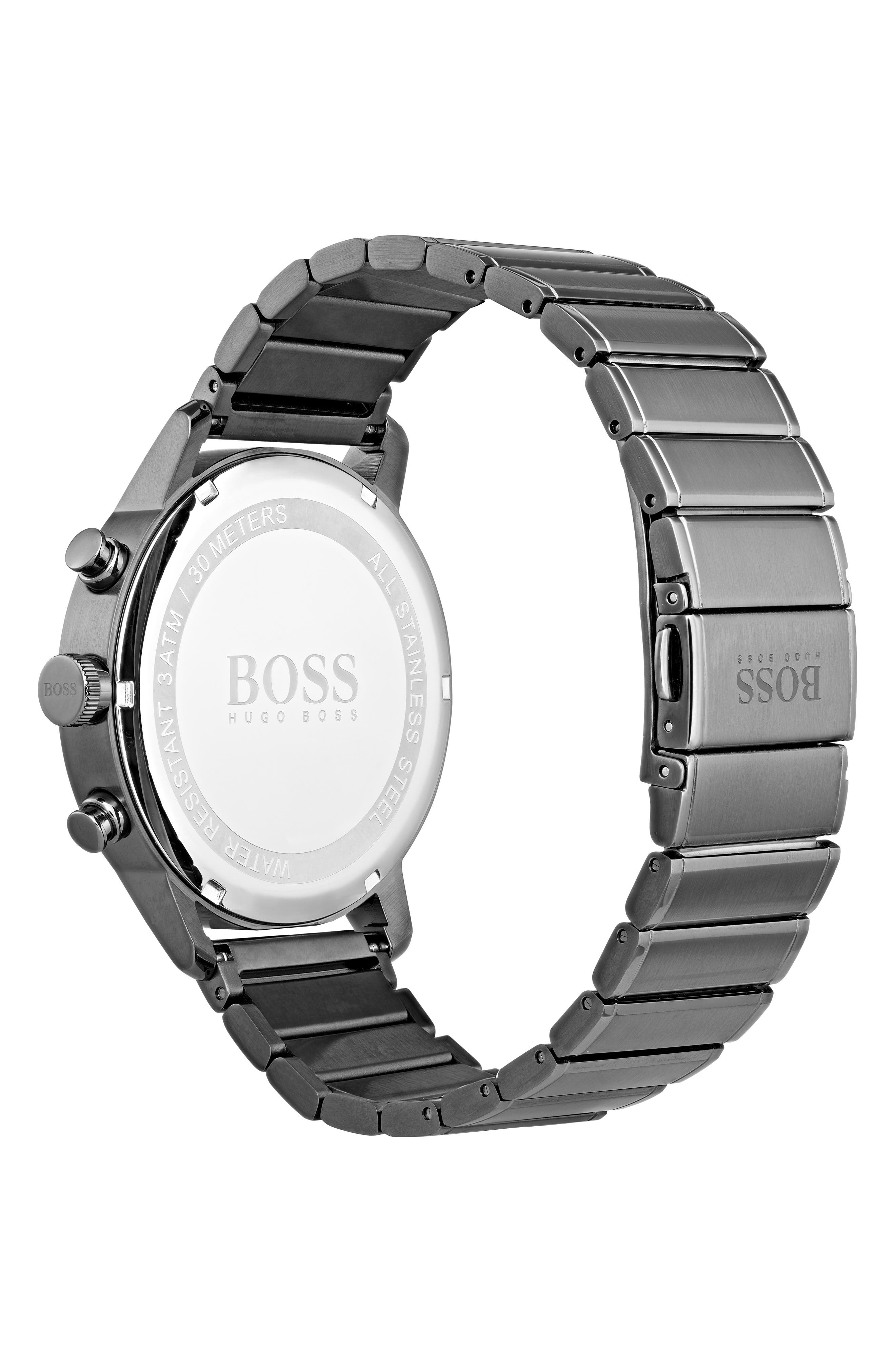 Architectural Chronograph Bracelet Watch, 44mm,                             Alternate thumbnail 2, color,                             STEEL BLUE/ GUNMETAL