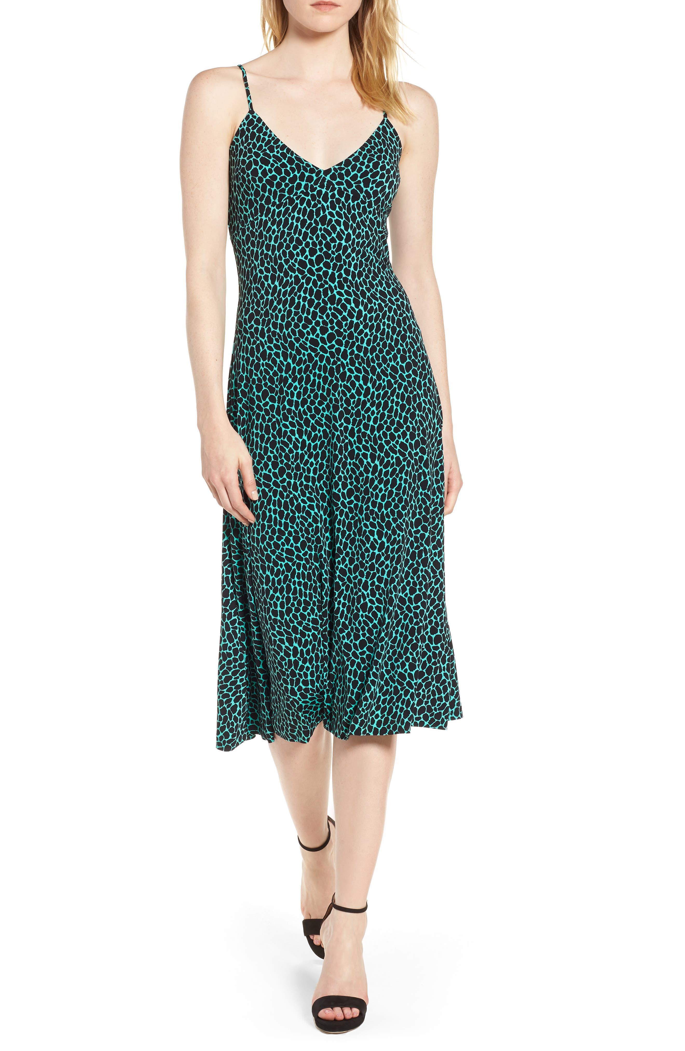 Graphic Leopard Tank Midi Dress,                             Main thumbnail 1, color,