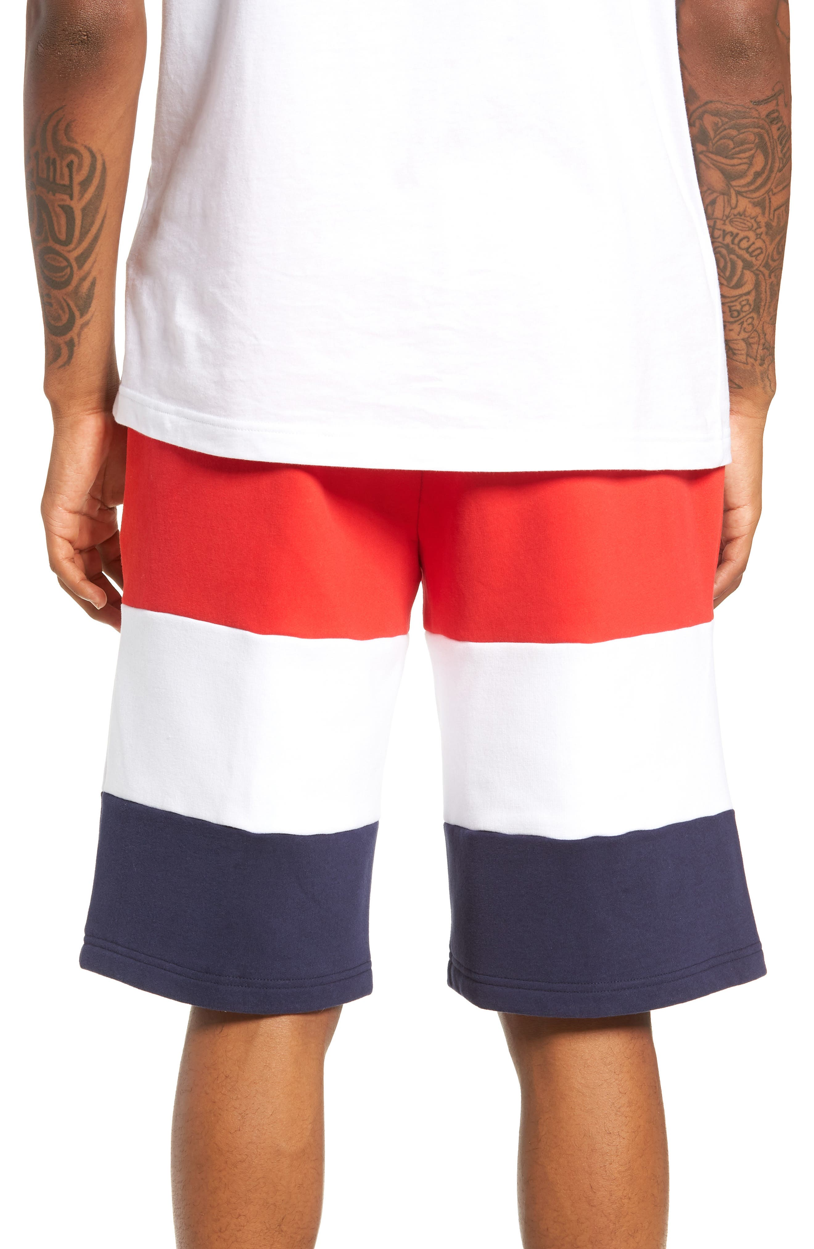 Alanzo Shorts,                             Alternate thumbnail 2, color,                             CHINESE RED/ WHITE/ NAVY