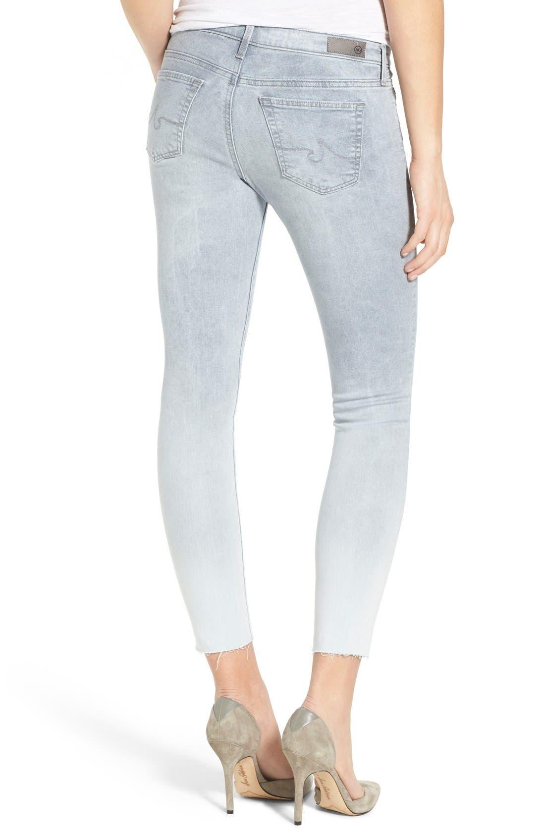 'The Legging' Raw Edge Ankle Skinny Jeans,                             Alternate thumbnail 6, color,