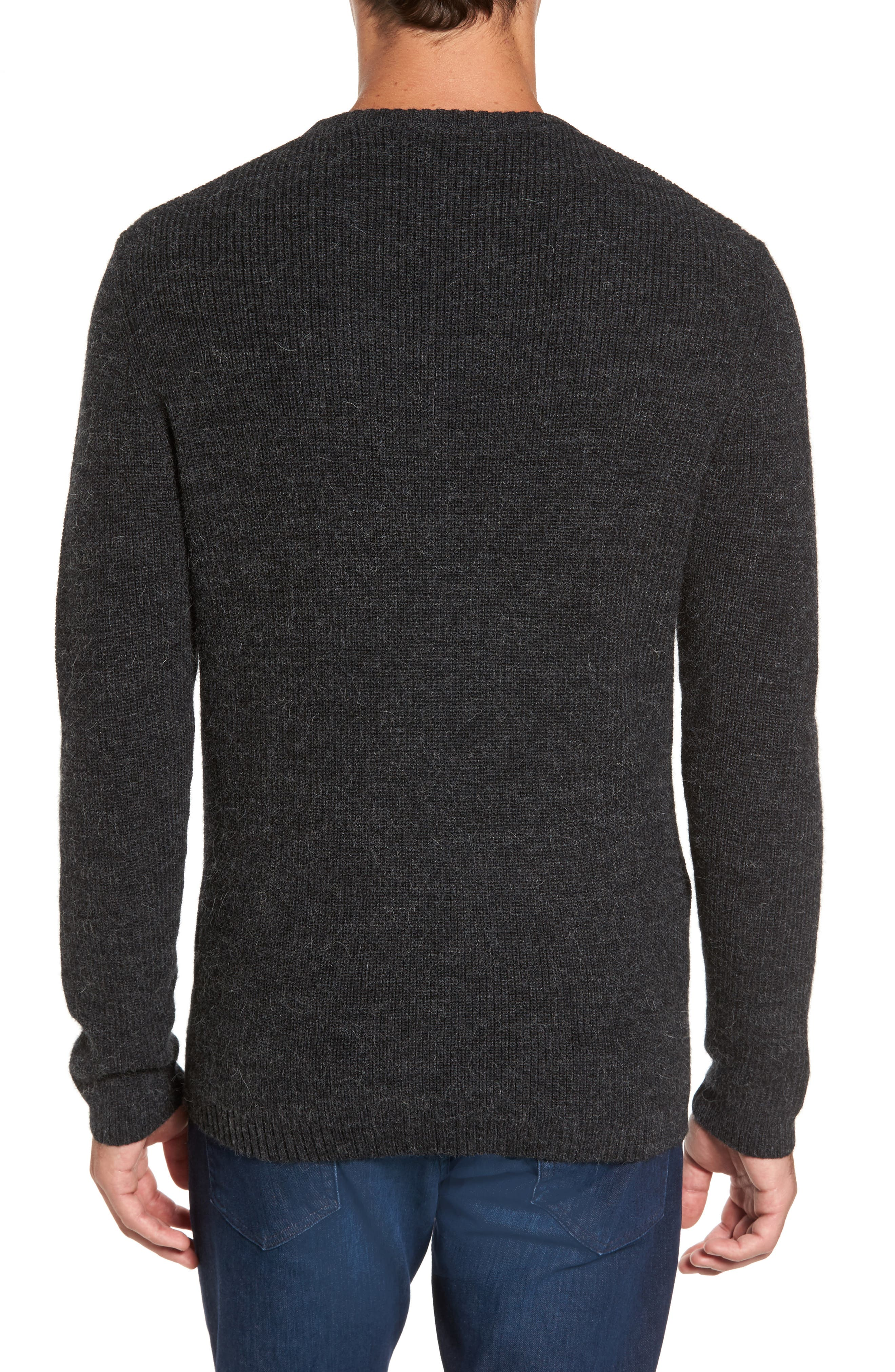 Whalers Bay Merino Wool Blend Sweater,                             Alternate thumbnail 2, color,                             001