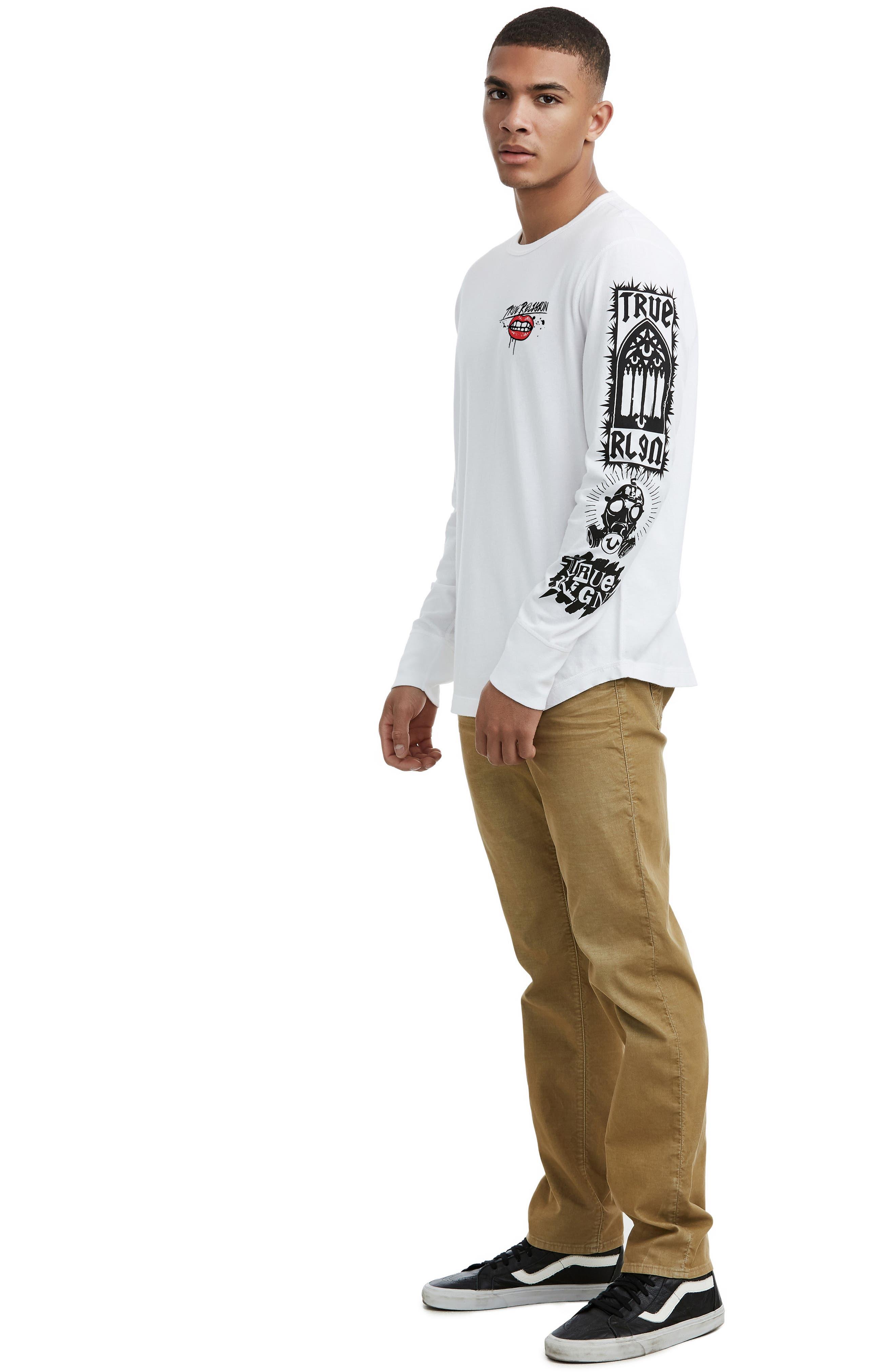 Long Sleeve Graphic T-Shirt,                             Alternate thumbnail 3, color,                             100