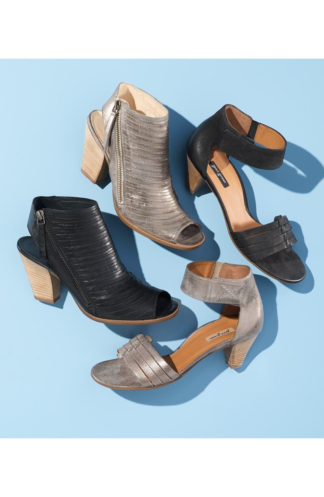 'Cayanne' Leather Peep Toe Sandal,                             Alternate thumbnail 7, color,                             006
