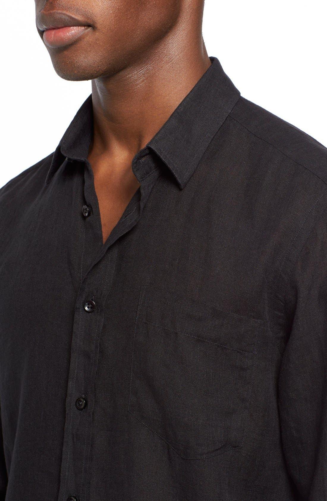 'Caroubier' Linen Shirt,                             Alternate thumbnail 41, color,