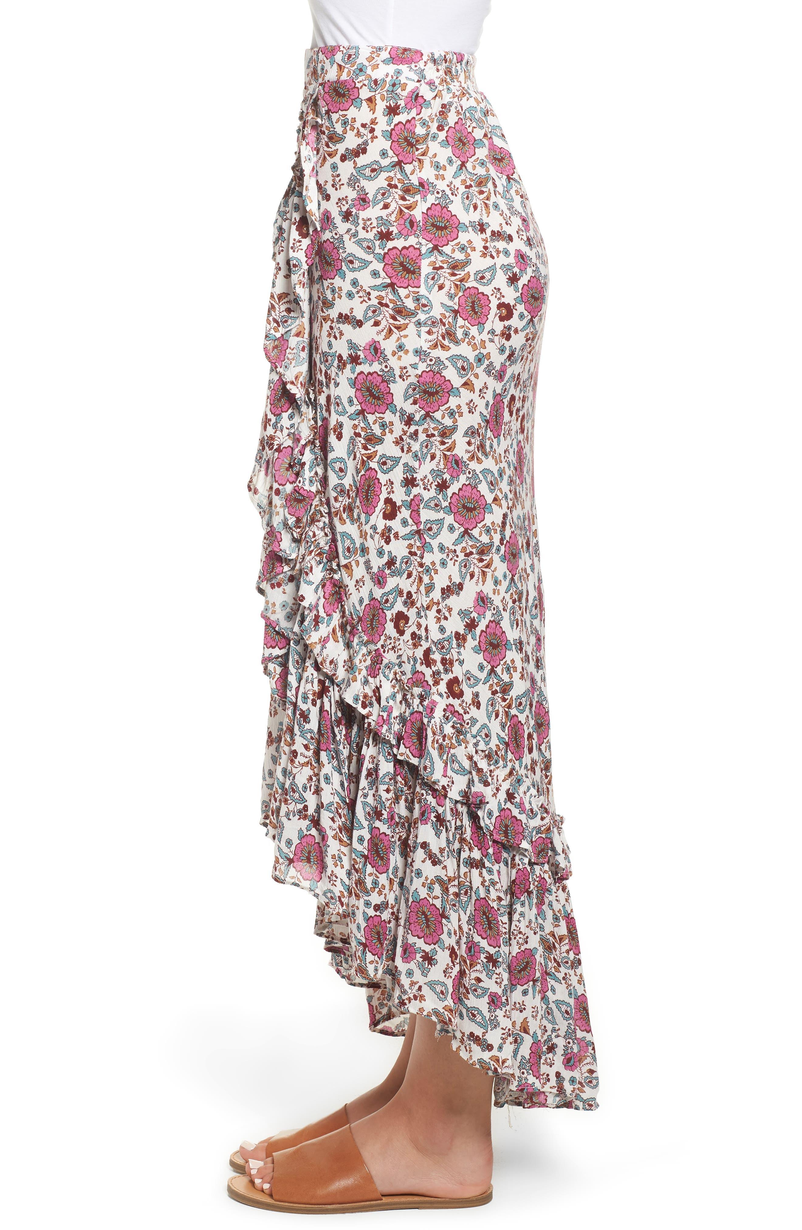 Summer Bloom Ruffle Skirt,                             Alternate thumbnail 3, color,                             650