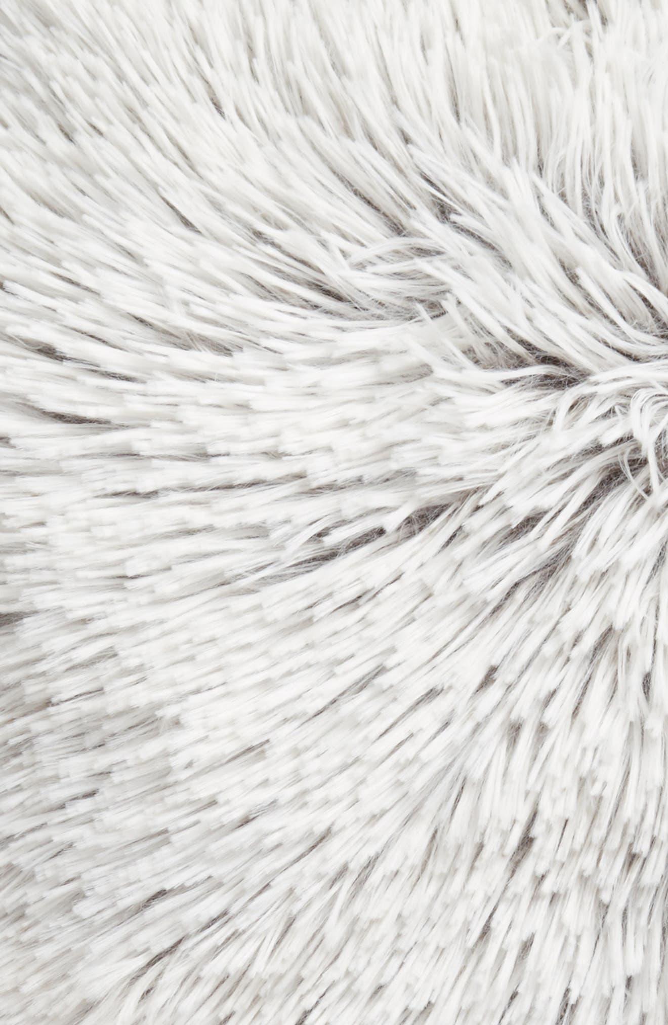 Feather Faux Fur Pillow,                             Alternate thumbnail 22, color,