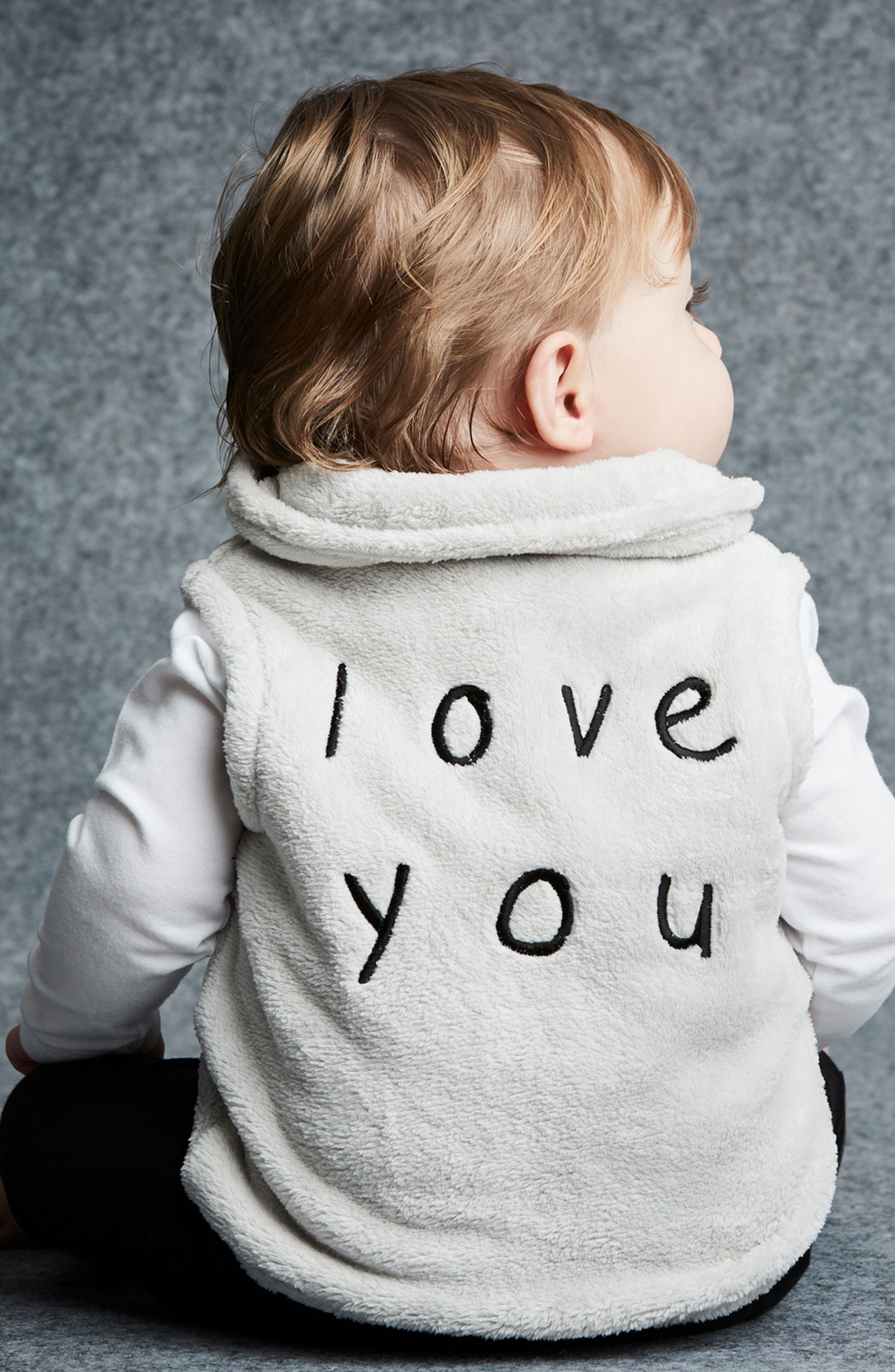 I Love You Fleece Vest,                             Alternate thumbnail 4, color,                             035