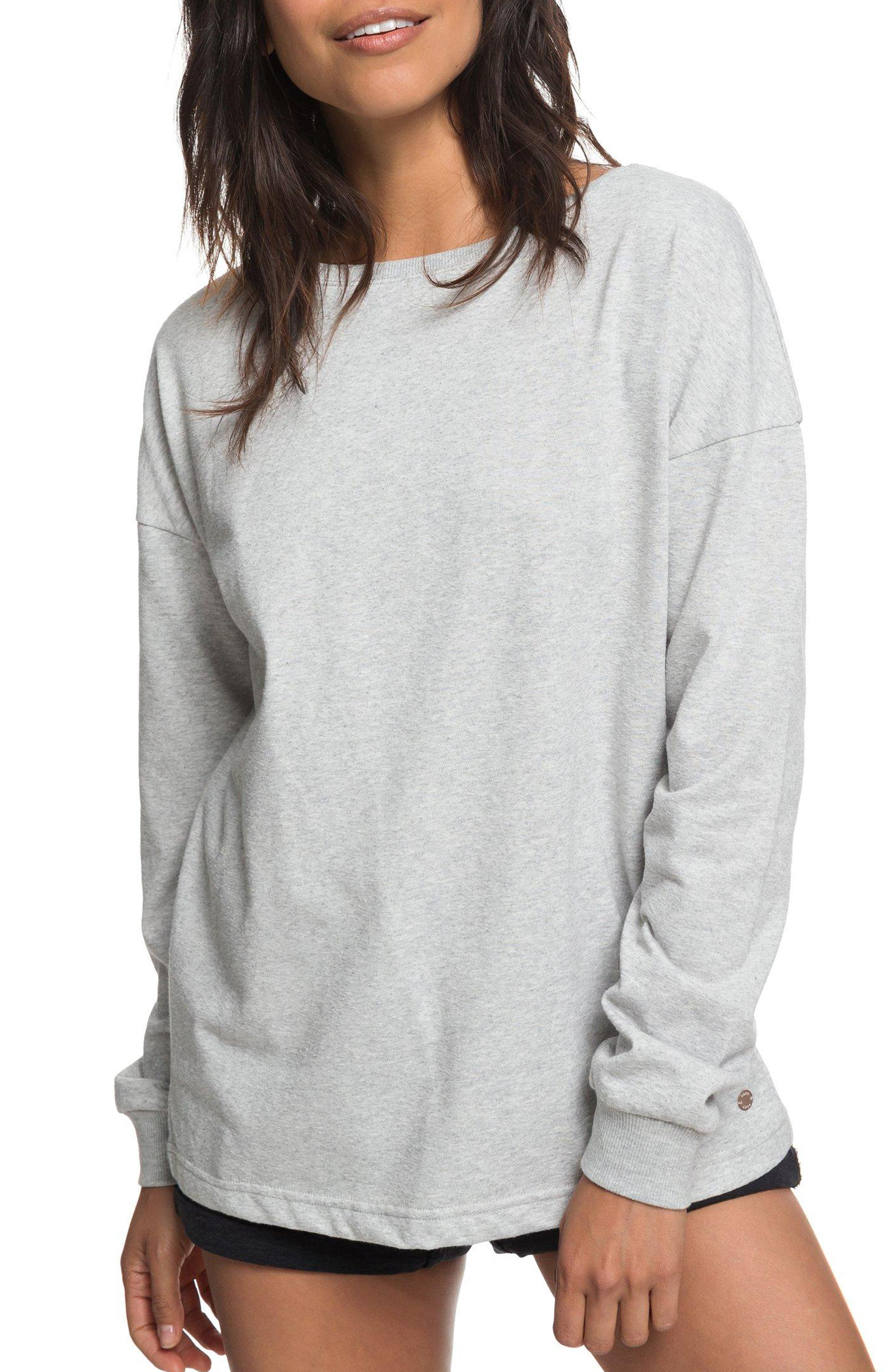 Journey On Open Back Sweatshirt,                         Main,                         color, HERITAGE HEATHER
