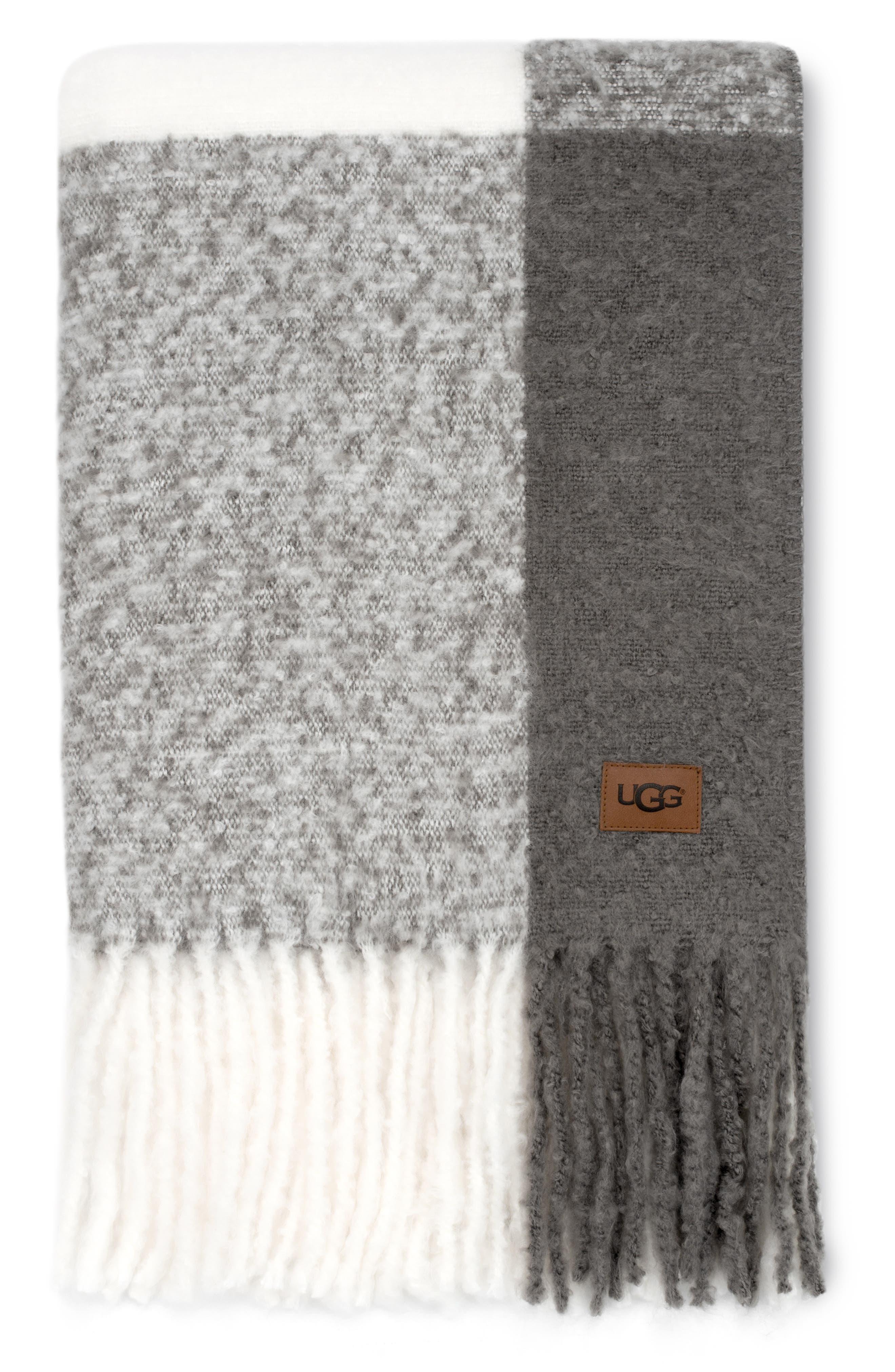 UGG<SUP>®</SUP> San Mateo Throw Blanket, Main, color, GREY MULTI
