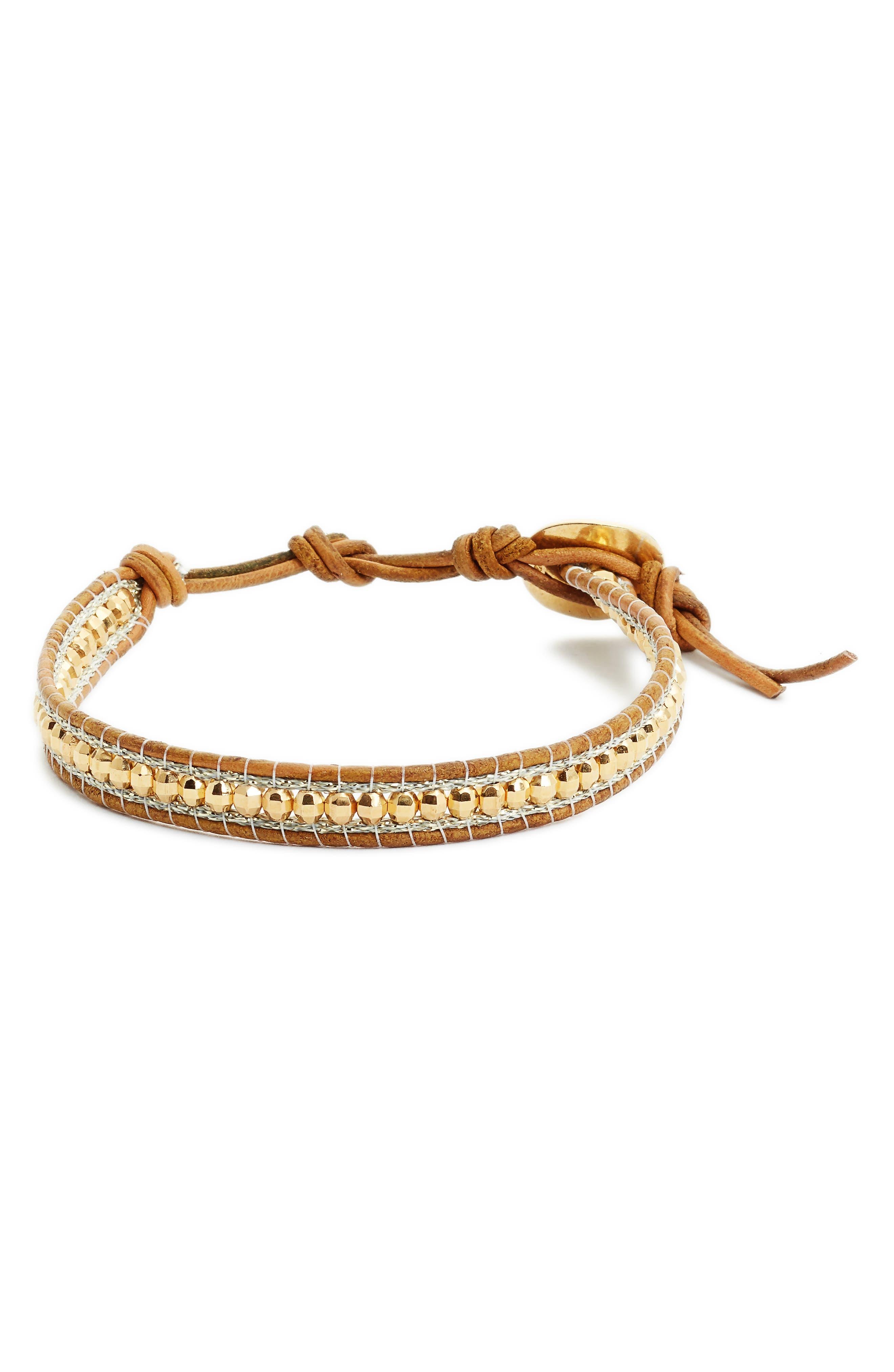 Beaded Bracelet,                             Main thumbnail 1, color,                             YELLOW MIX
