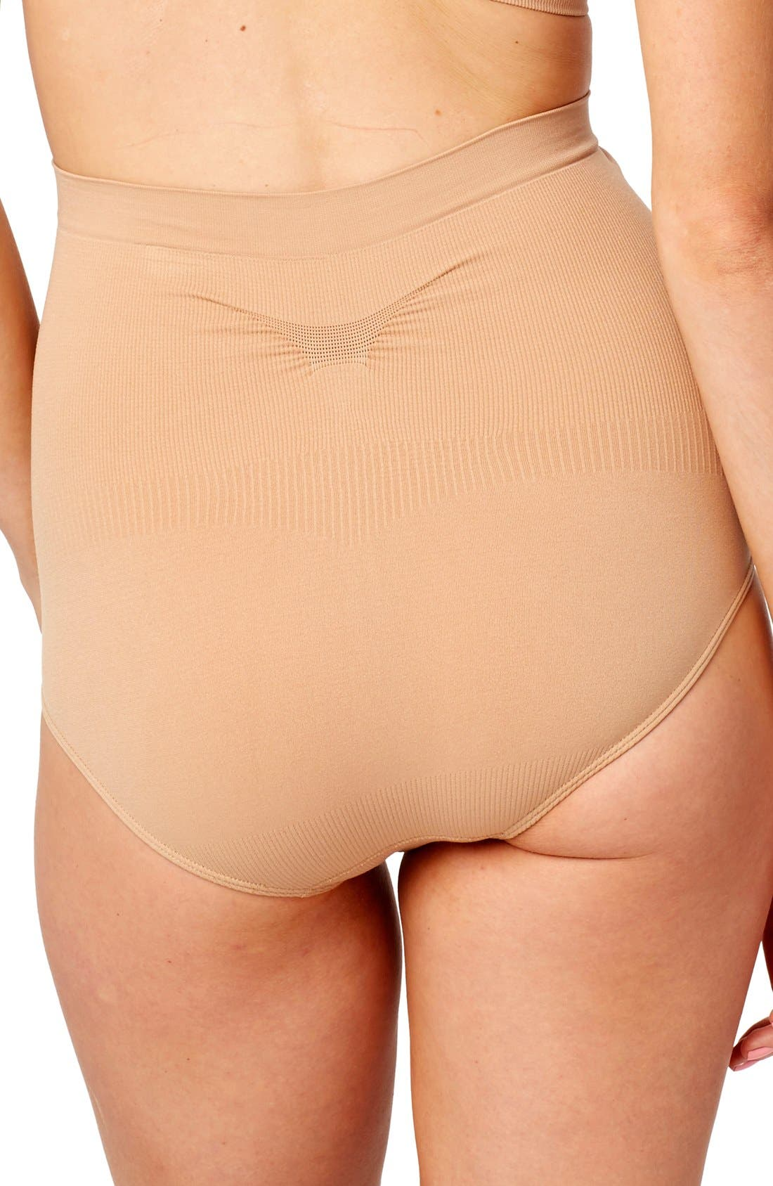 Seamless Shaper Maternity Briefs,                             Alternate thumbnail 2, color,                             NUDE