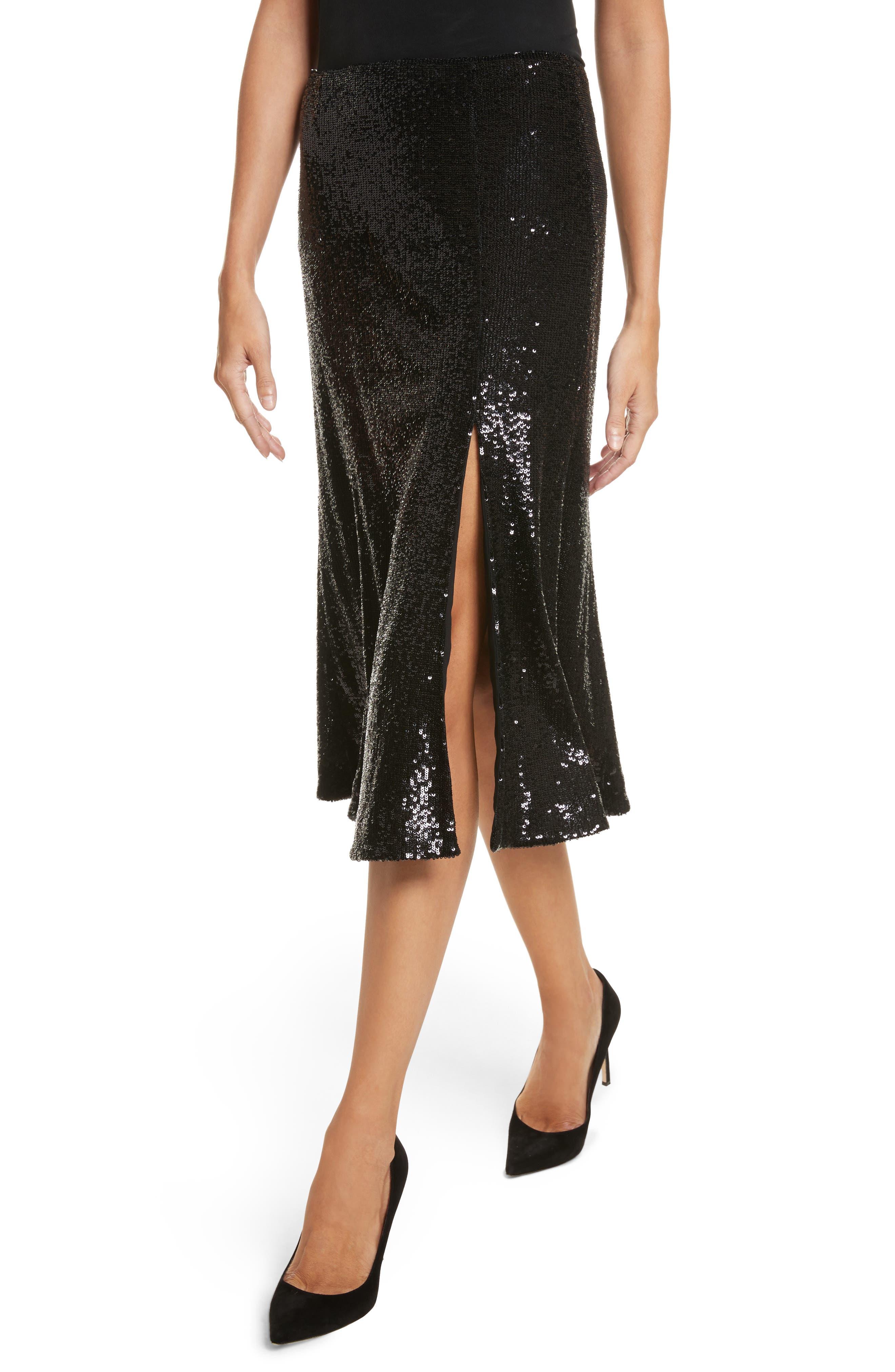 Braxton Sequin Skirt,                             Alternate thumbnail 4, color,                             001