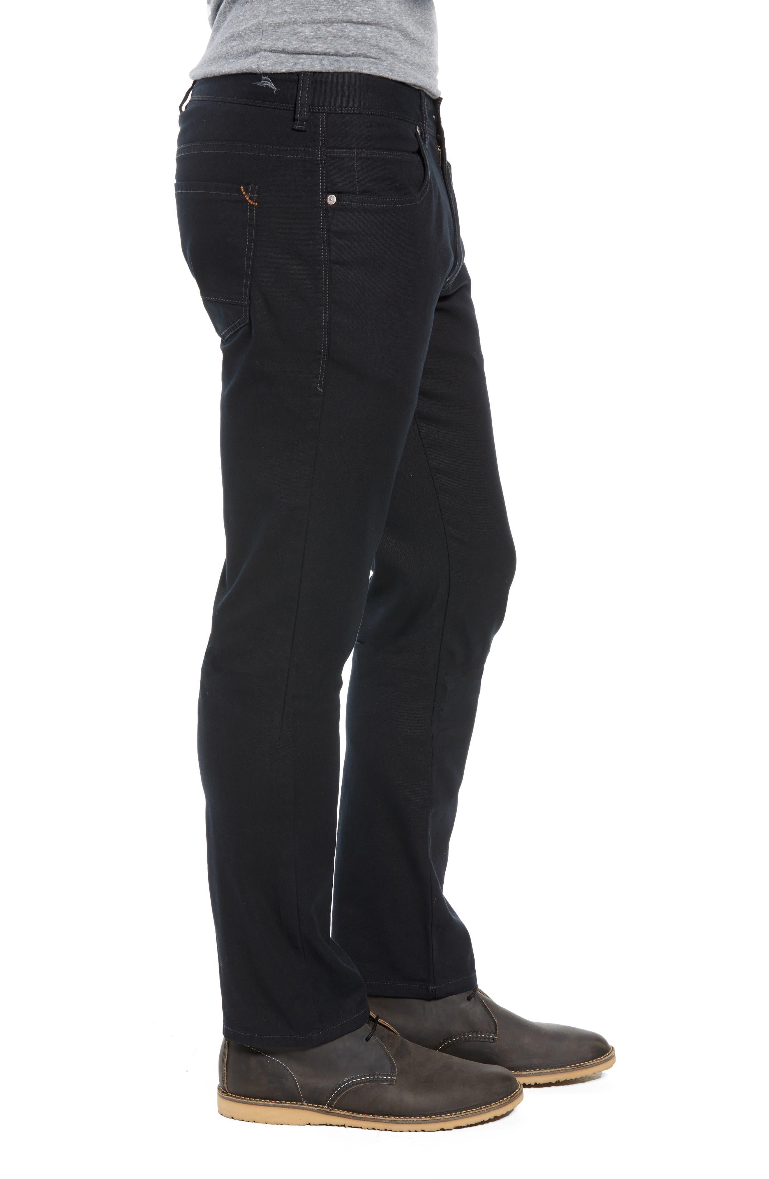 Key Isles Regular Fit Pants,                             Alternate thumbnail 3, color,                             BLACK
