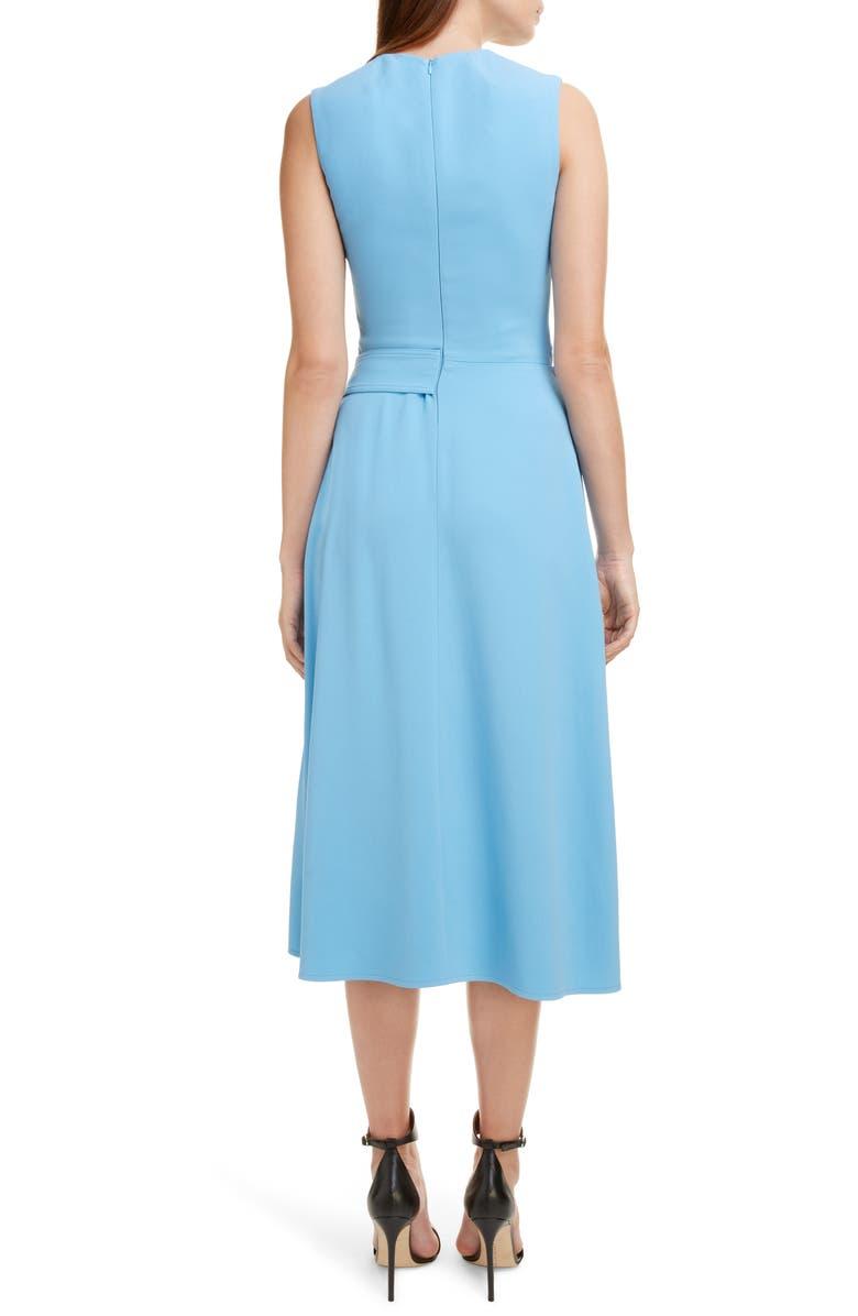 VICTORIA BECKHAM Belted Midi Dress, Alternate, color, SKY BLUE