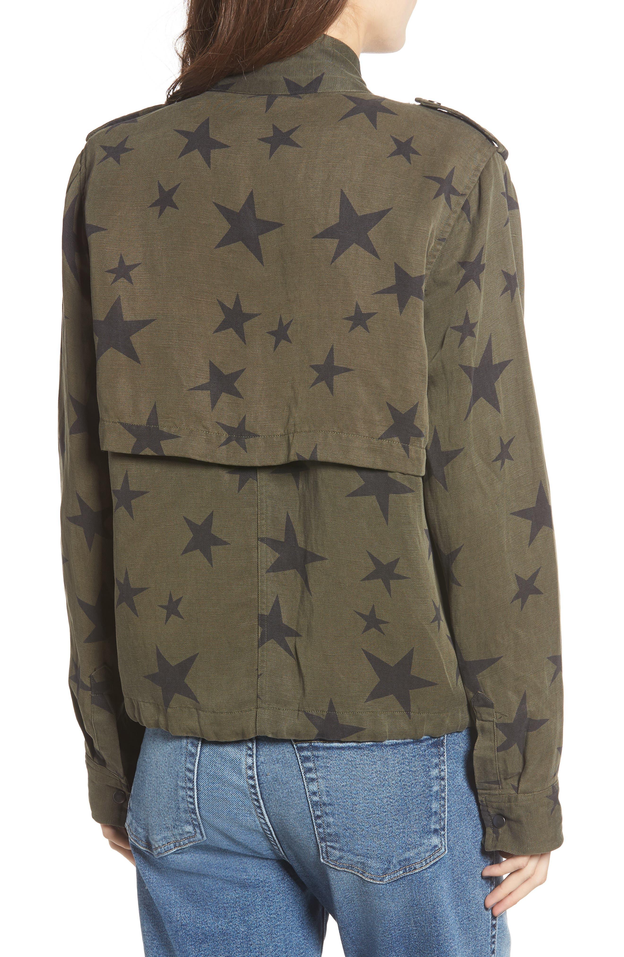 Collins Star Jacket,                             Alternate thumbnail 3, color,                             SAGE WITH BLACK STARS