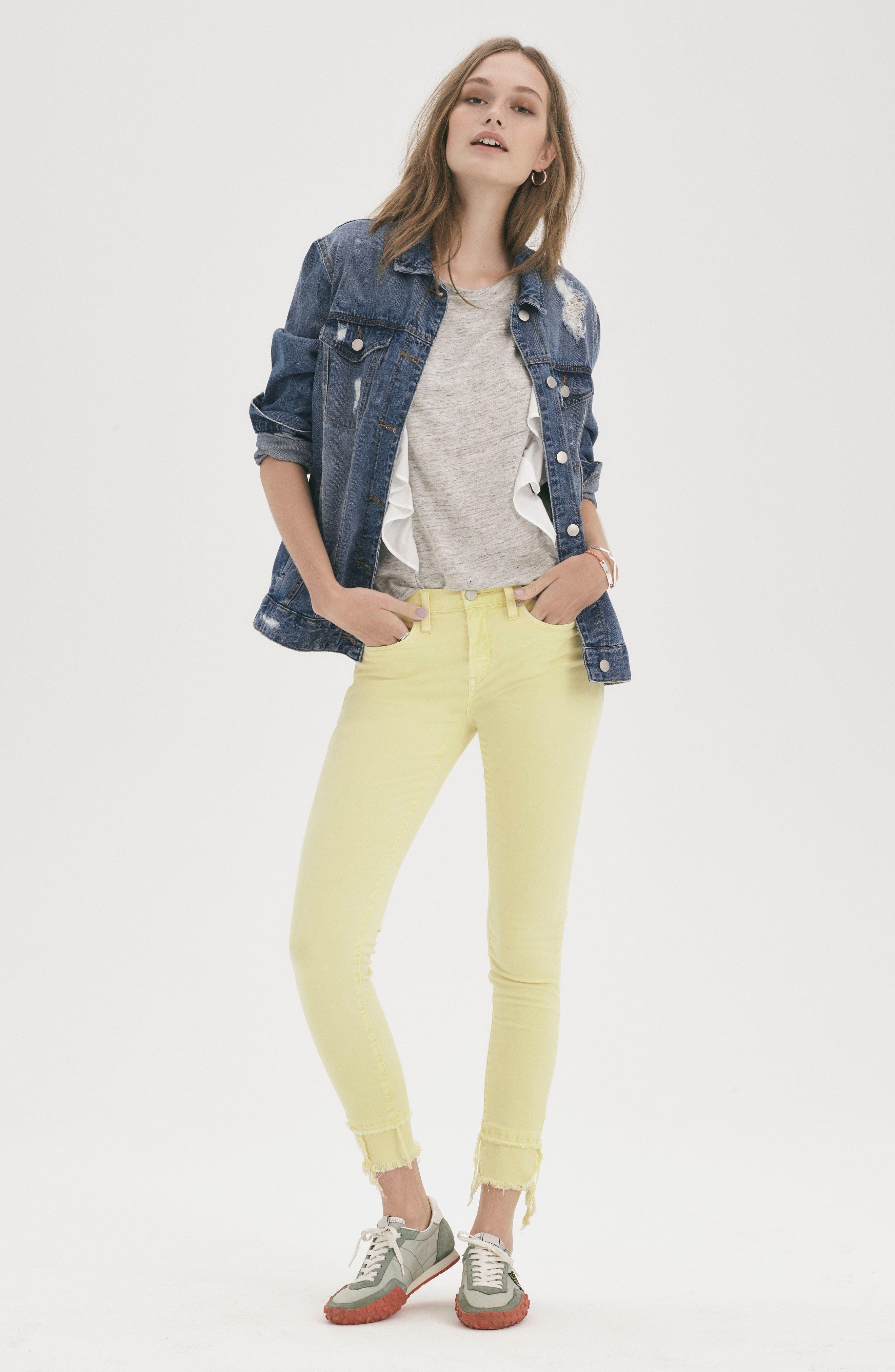 The Reade Classic Crop Raw Edge Double Hem Jeans,                             Alternate thumbnail 11, color,