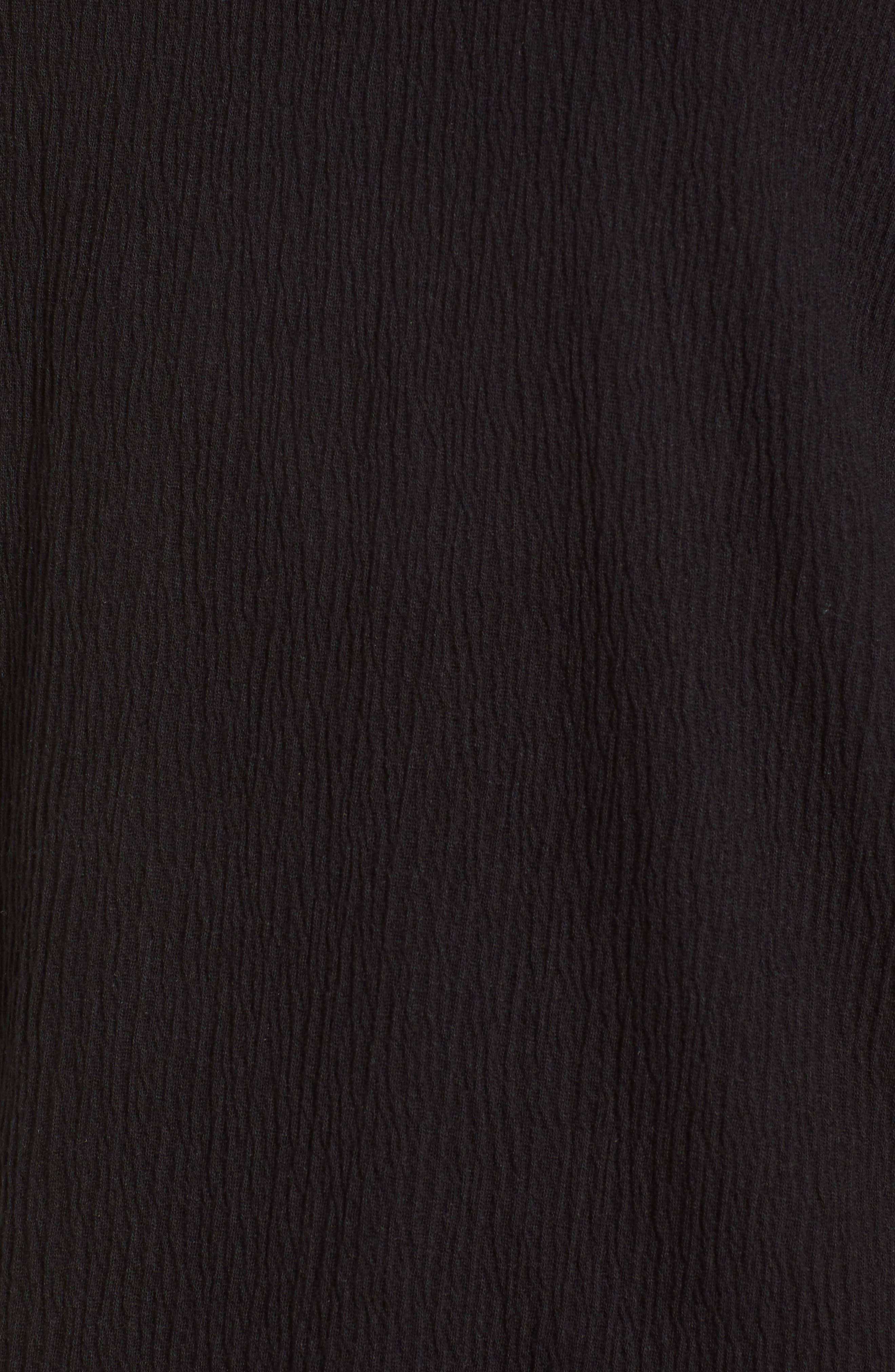 Ruffle Sleeve Top,                             Alternate thumbnail 6, color,                             001