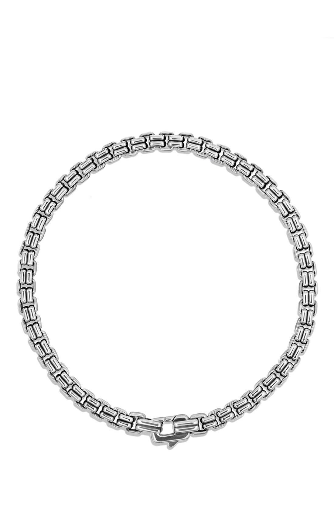 DAVID YURMAN,                             'Chain' Double Box Chain Bracelet,                             Alternate thumbnail 3, color,                             SILVER
