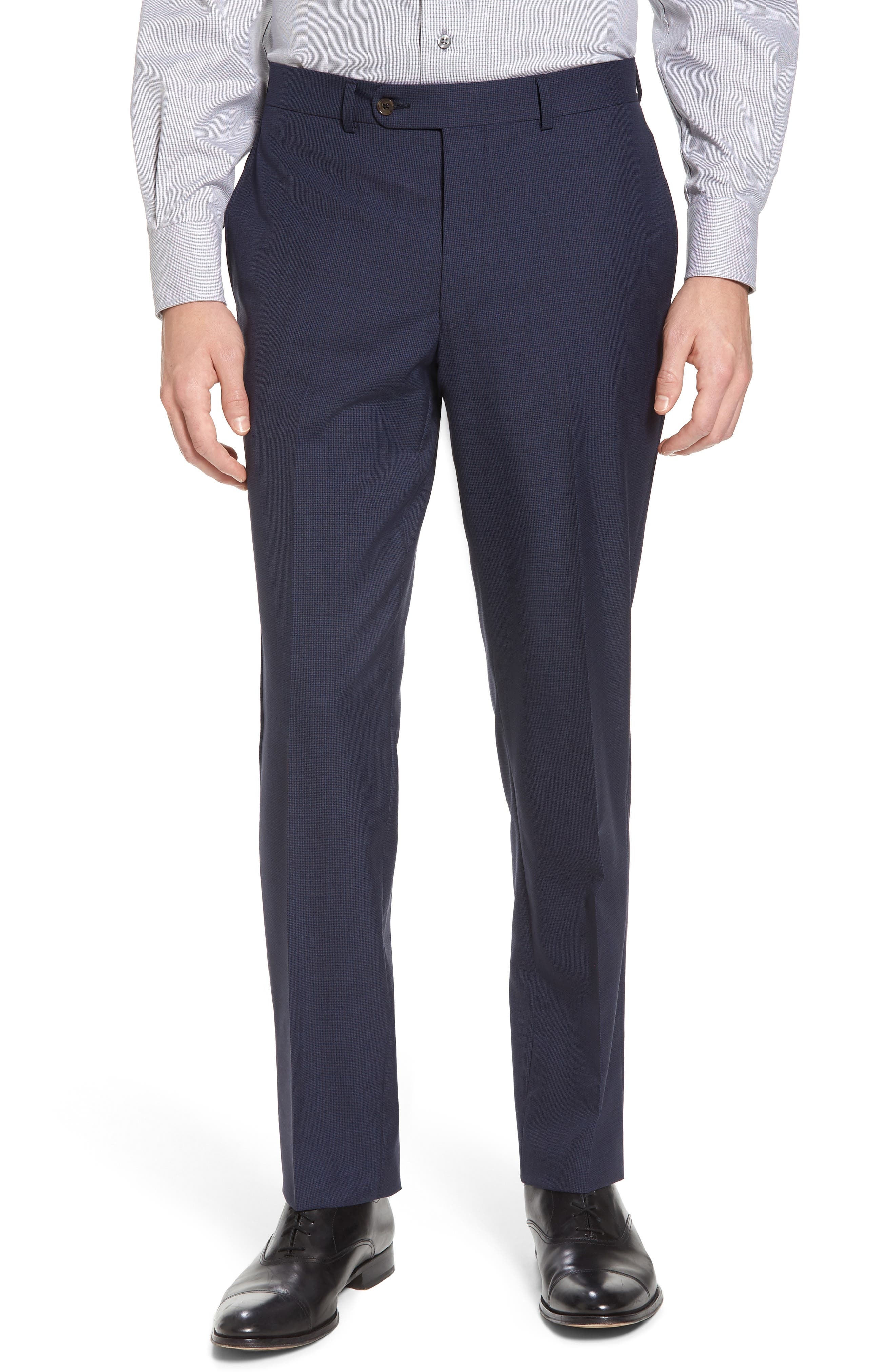 Ryan Classic Fit Houndstooth Wool Suit,                             Alternate thumbnail 6, color,                             410