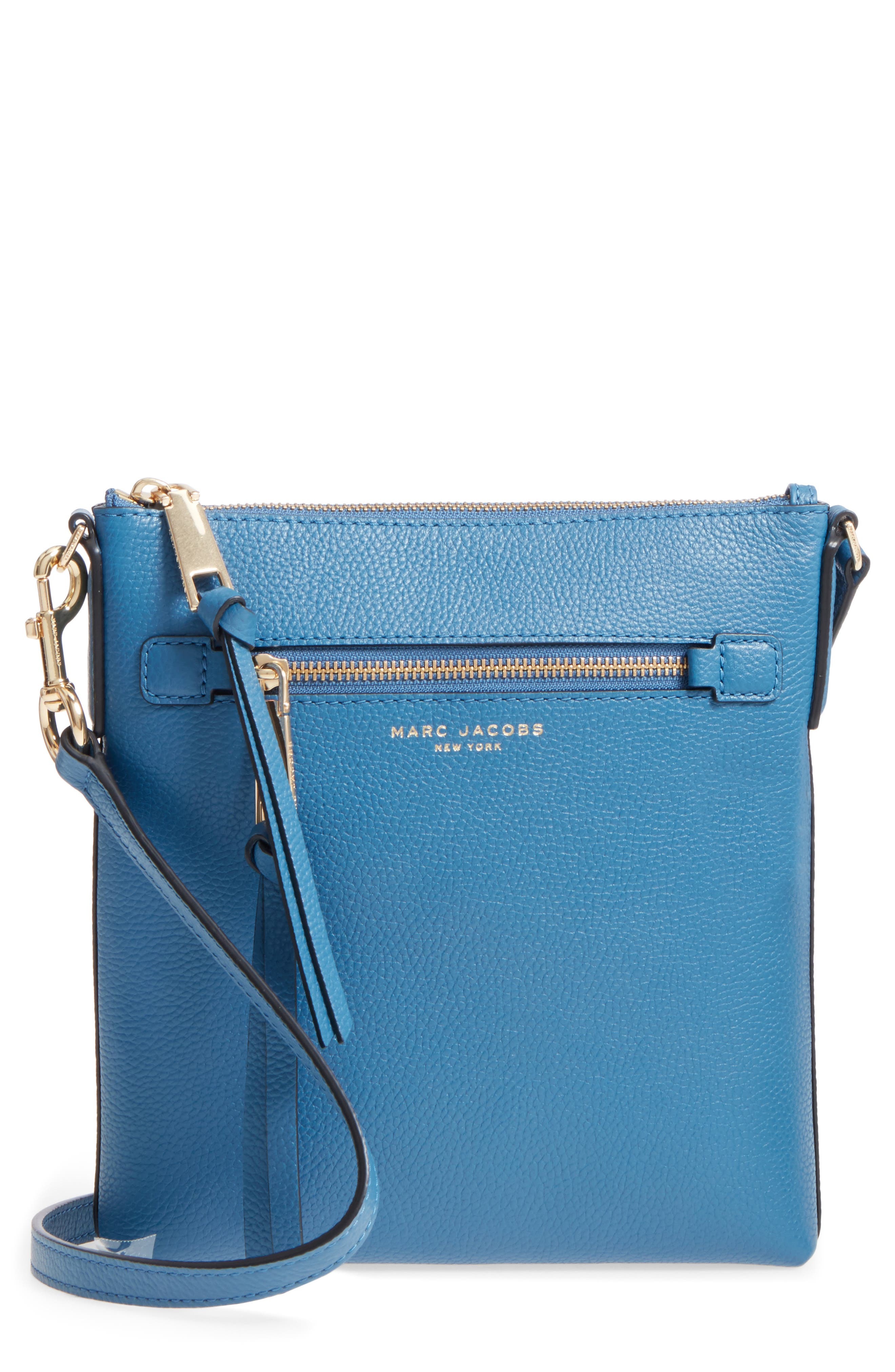 Recruit North/South Leather Crossbody Bag,                             Main thumbnail 1, color,                             476