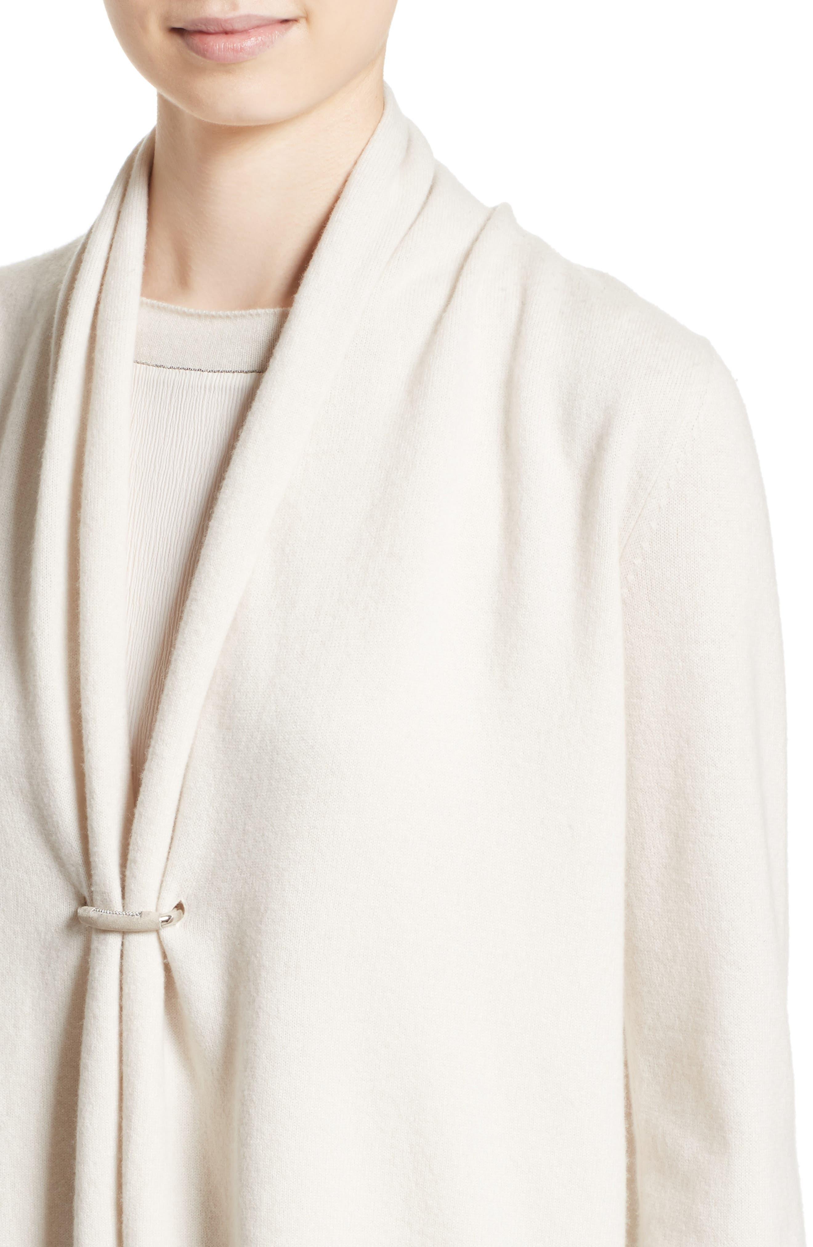 Wool, Silk & Cashmere Shawl Collar Cardigan,                             Alternate thumbnail 4, color,                             101
