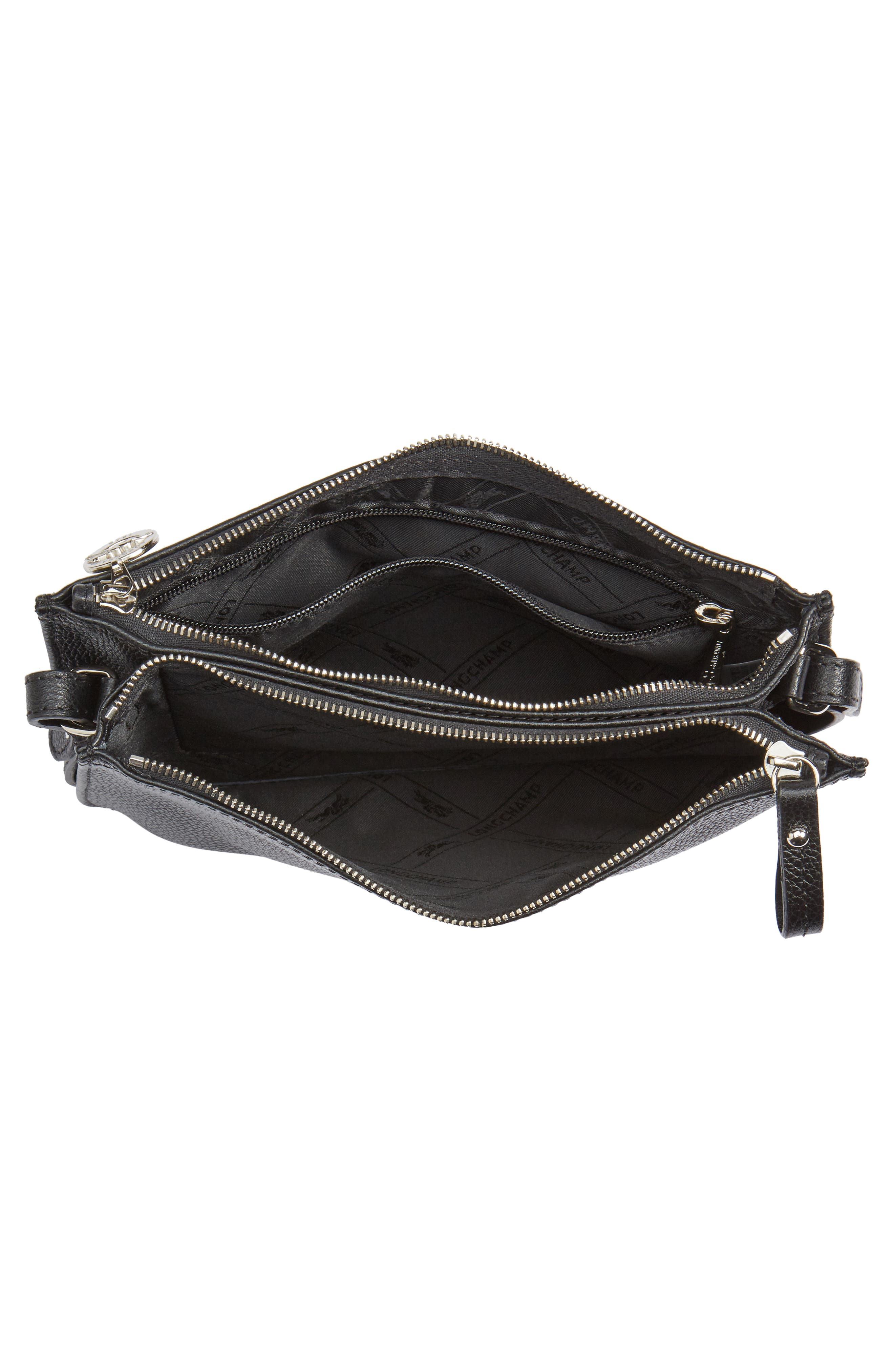 Le Foulonne Leather Crossbody Bag,                             Alternate thumbnail 4, color,                             002