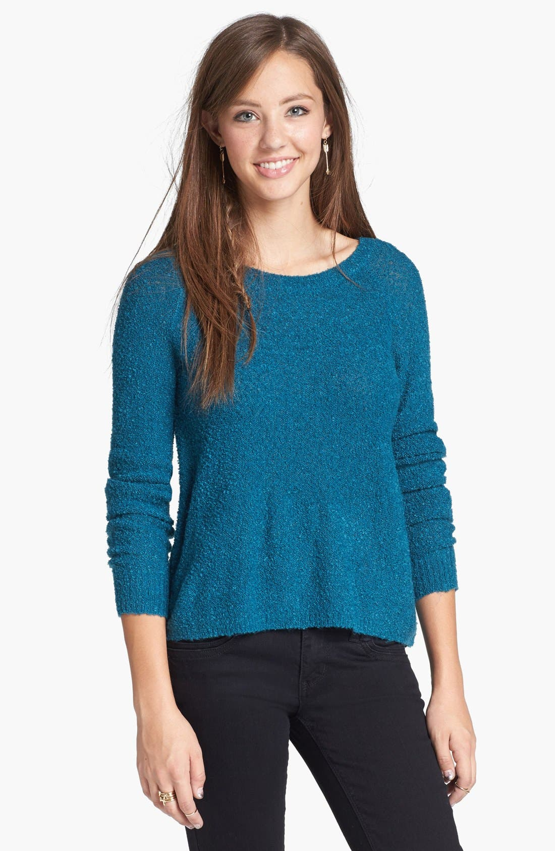 'Grunge' Textured Sweater,                             Main thumbnail 5, color,