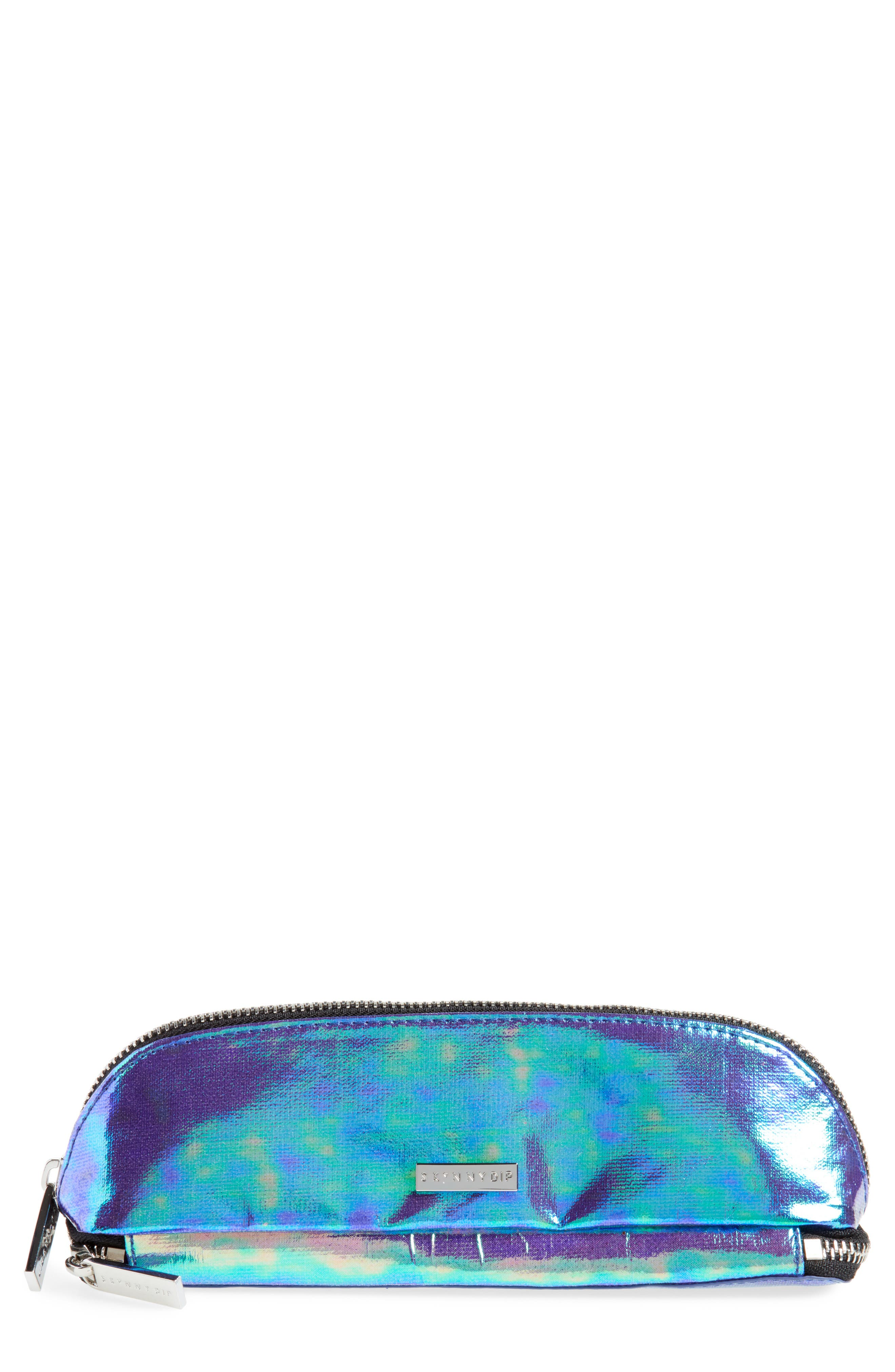 Skinny Dip Mermaid Brush Bag,                             Main thumbnail 1, color,                             000