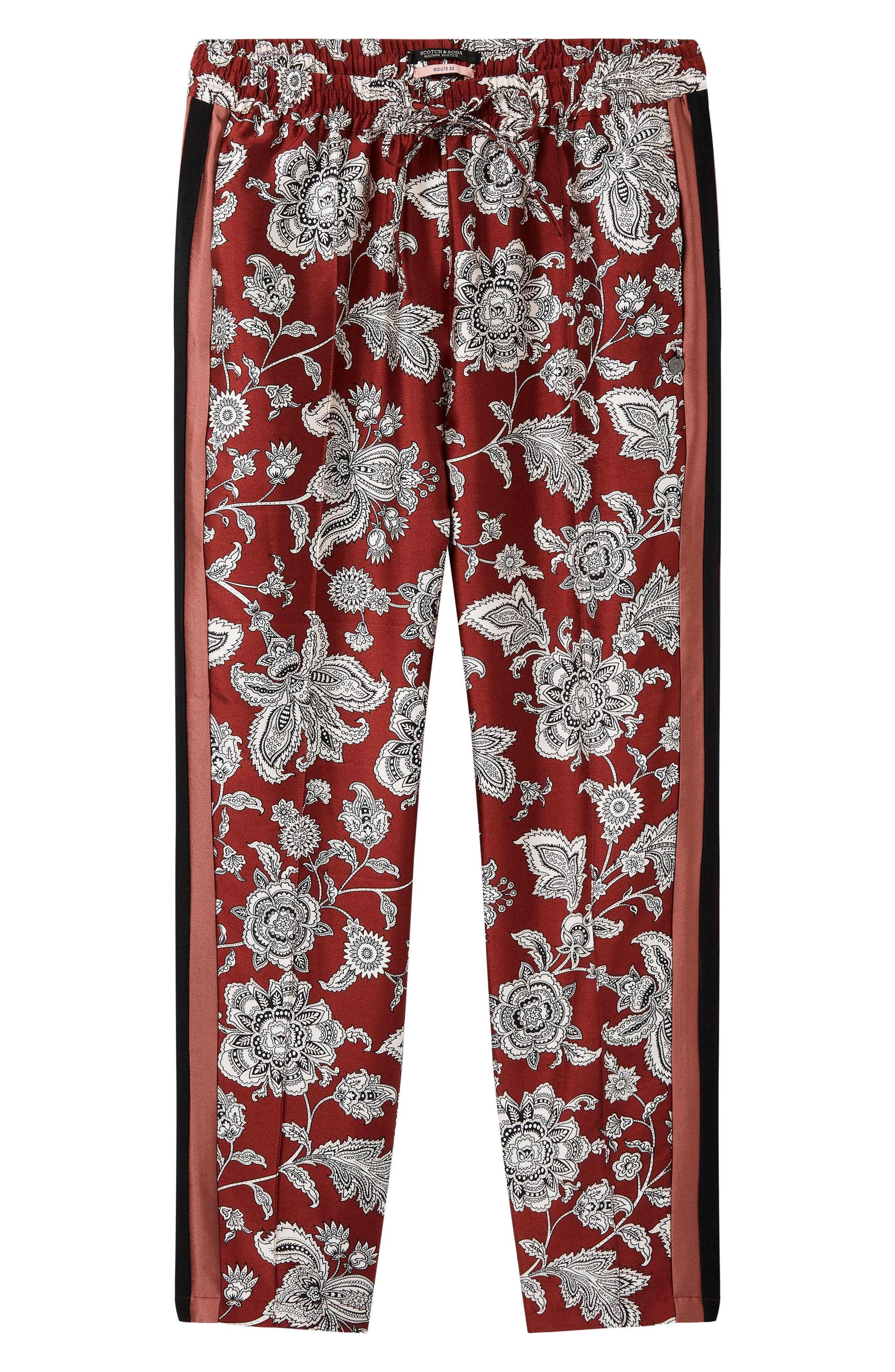 Print Satin Pants,                             Alternate thumbnail 4, color,