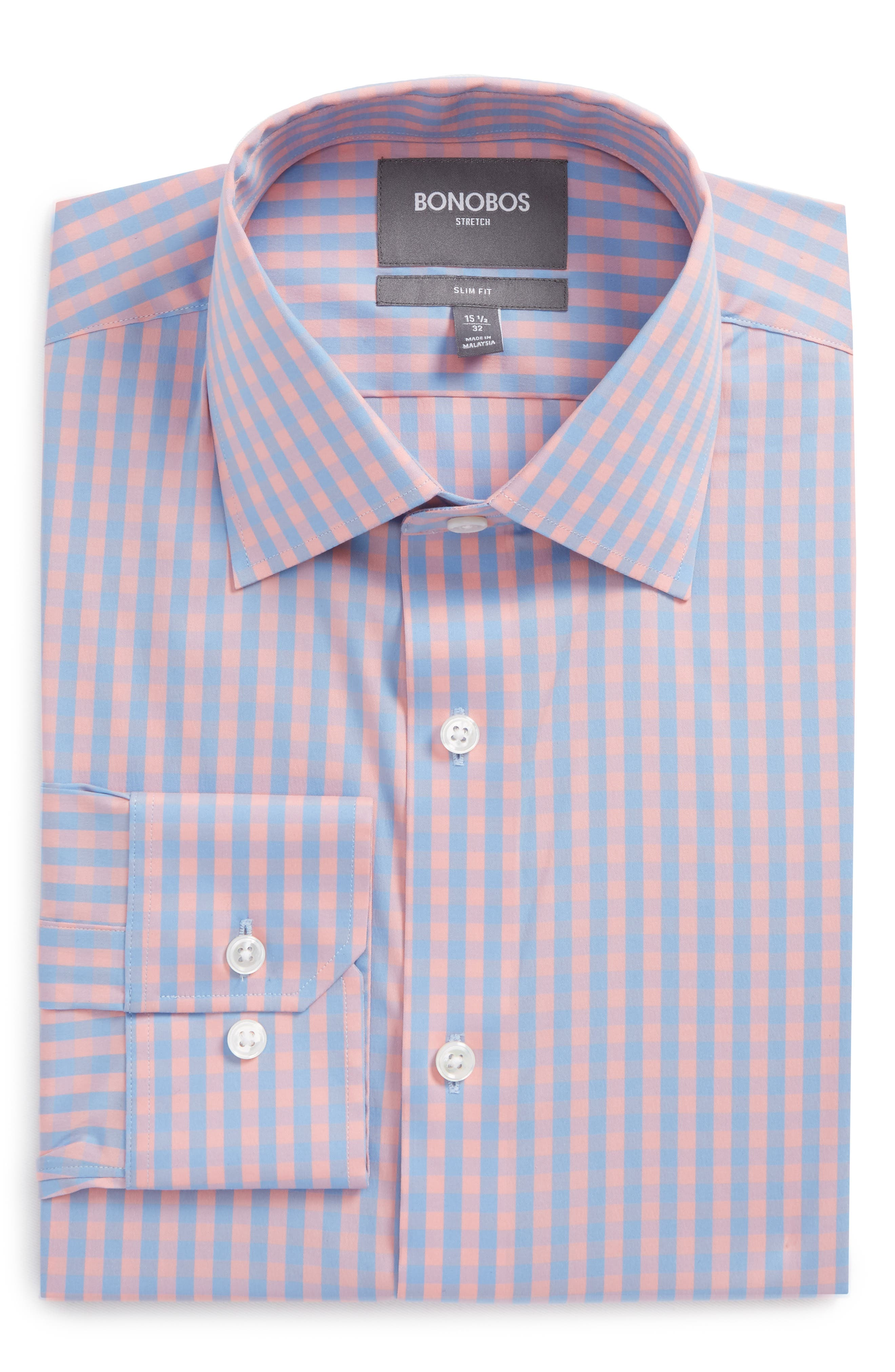 Jetsetter Slim Fit Stretch Check Dress Shirt,                             Alternate thumbnail 5, color,