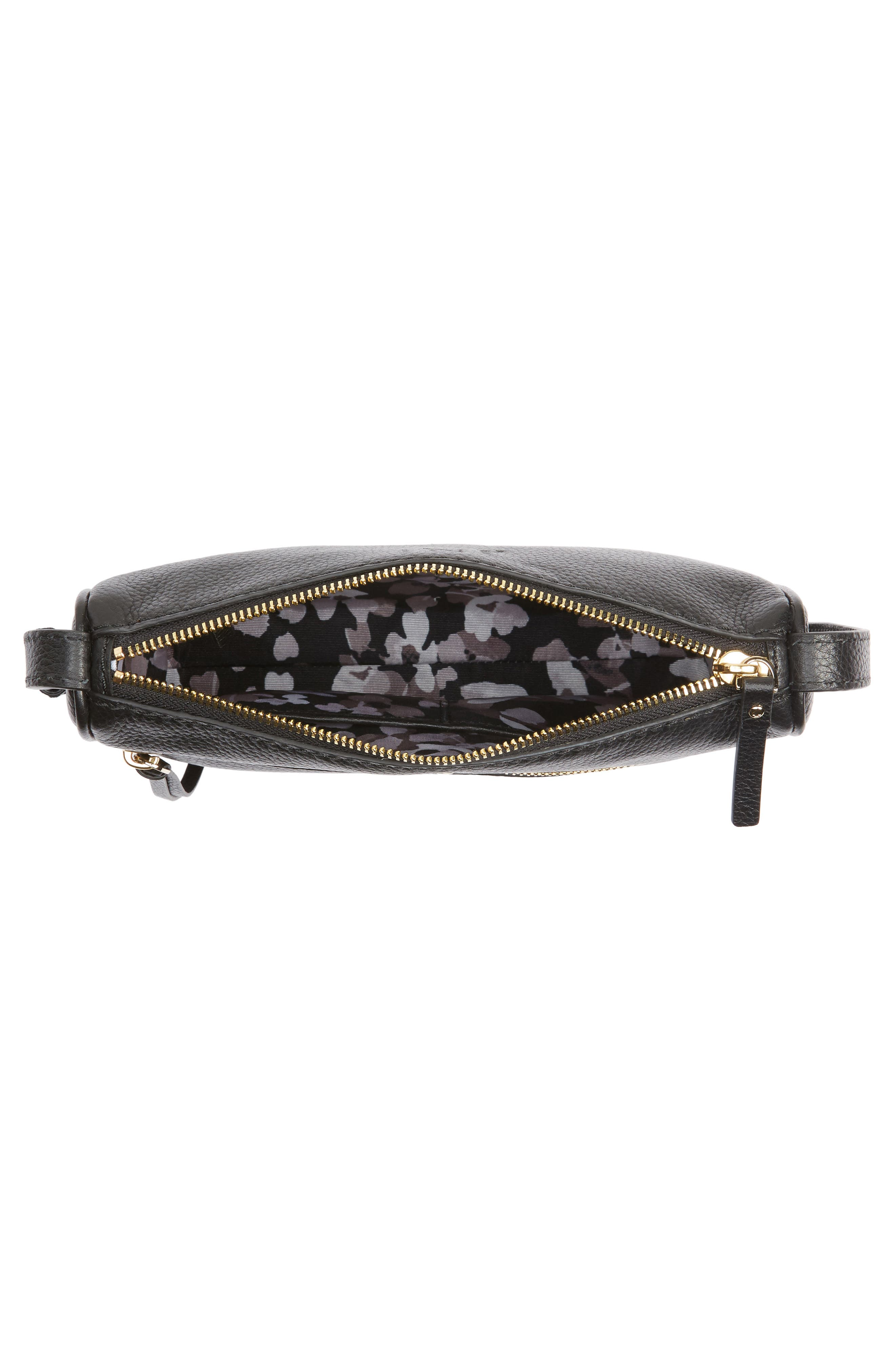 young lane - cayli leather crossbody bag,                             Alternate thumbnail 4, color,                             001