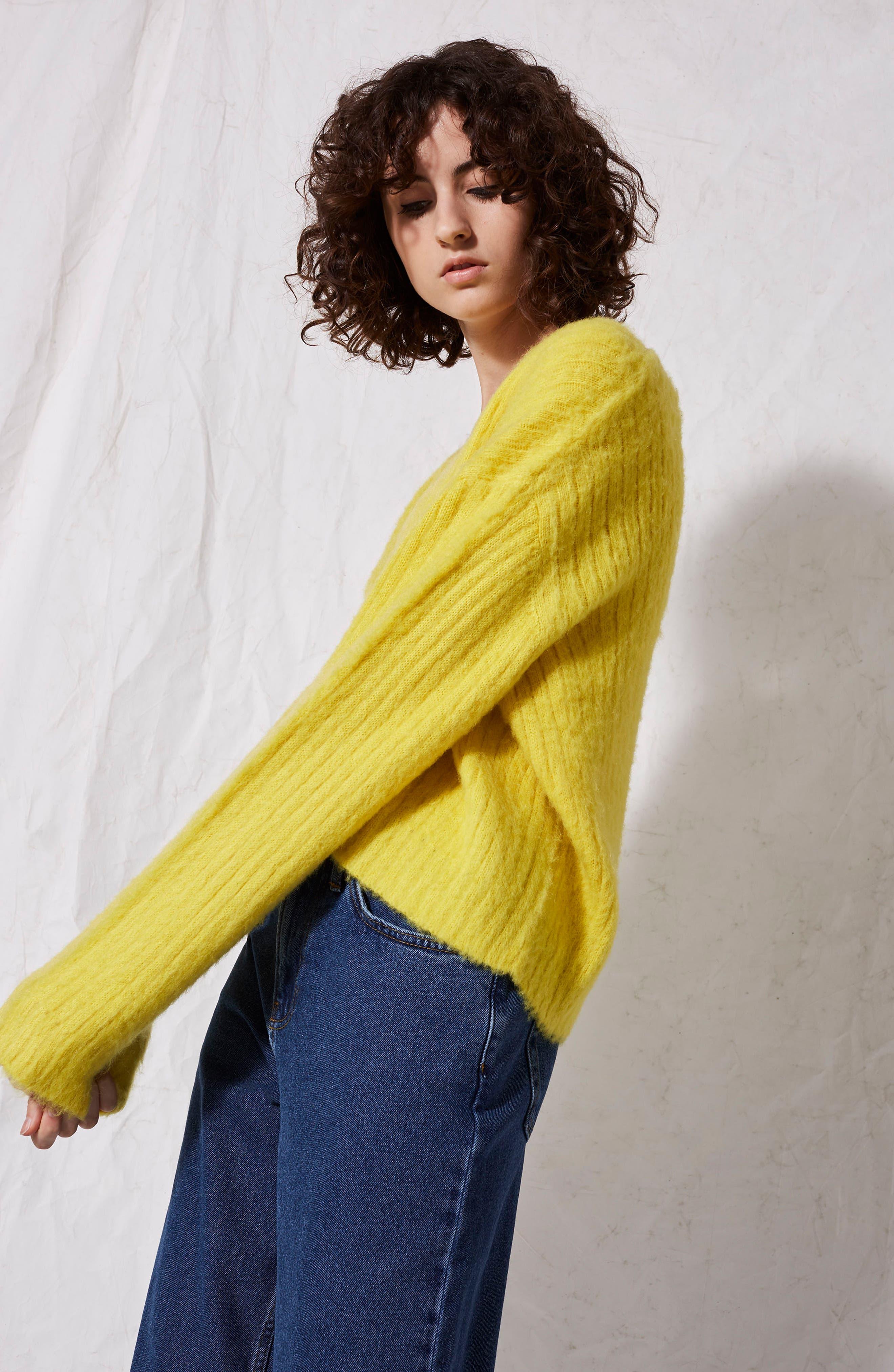 V-Neck Rib Sweater,                             Alternate thumbnail 12, color,                             700
