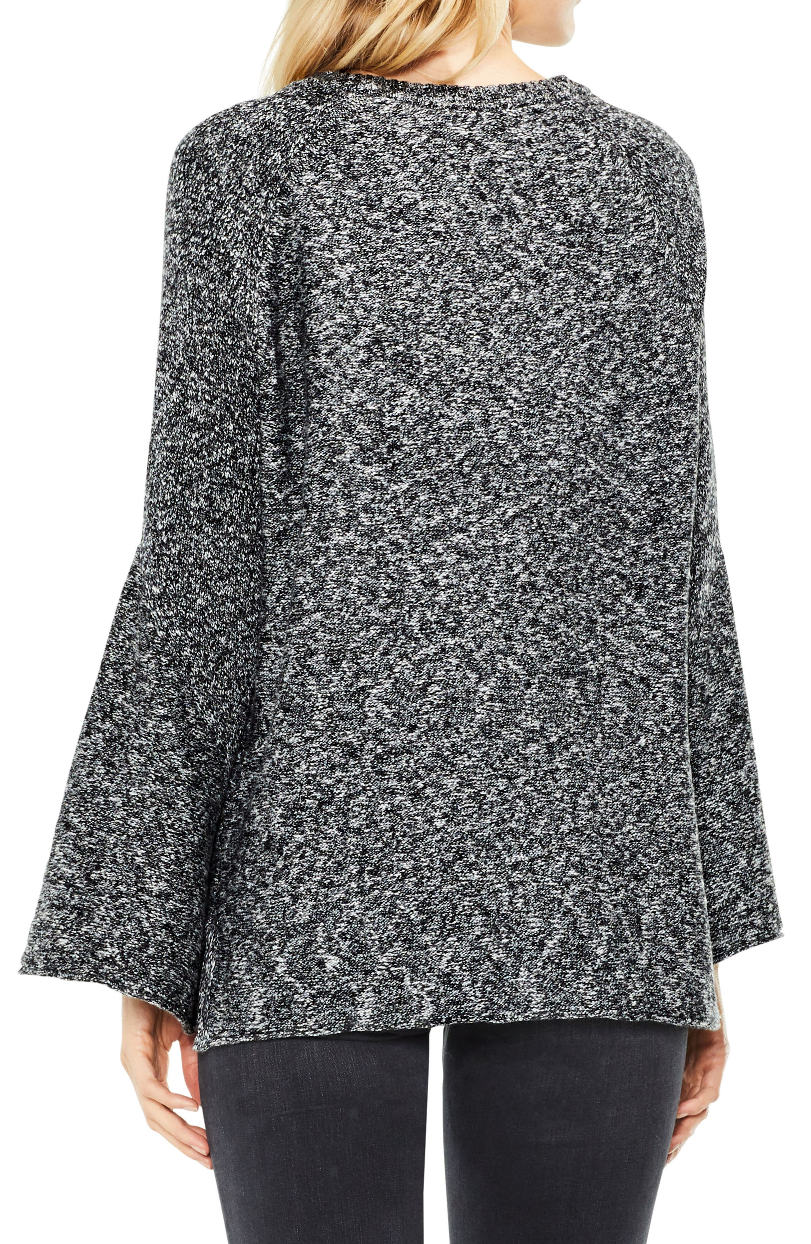 Bell Sleeve Ribbed Sweater,                             Alternate thumbnail 3, color,