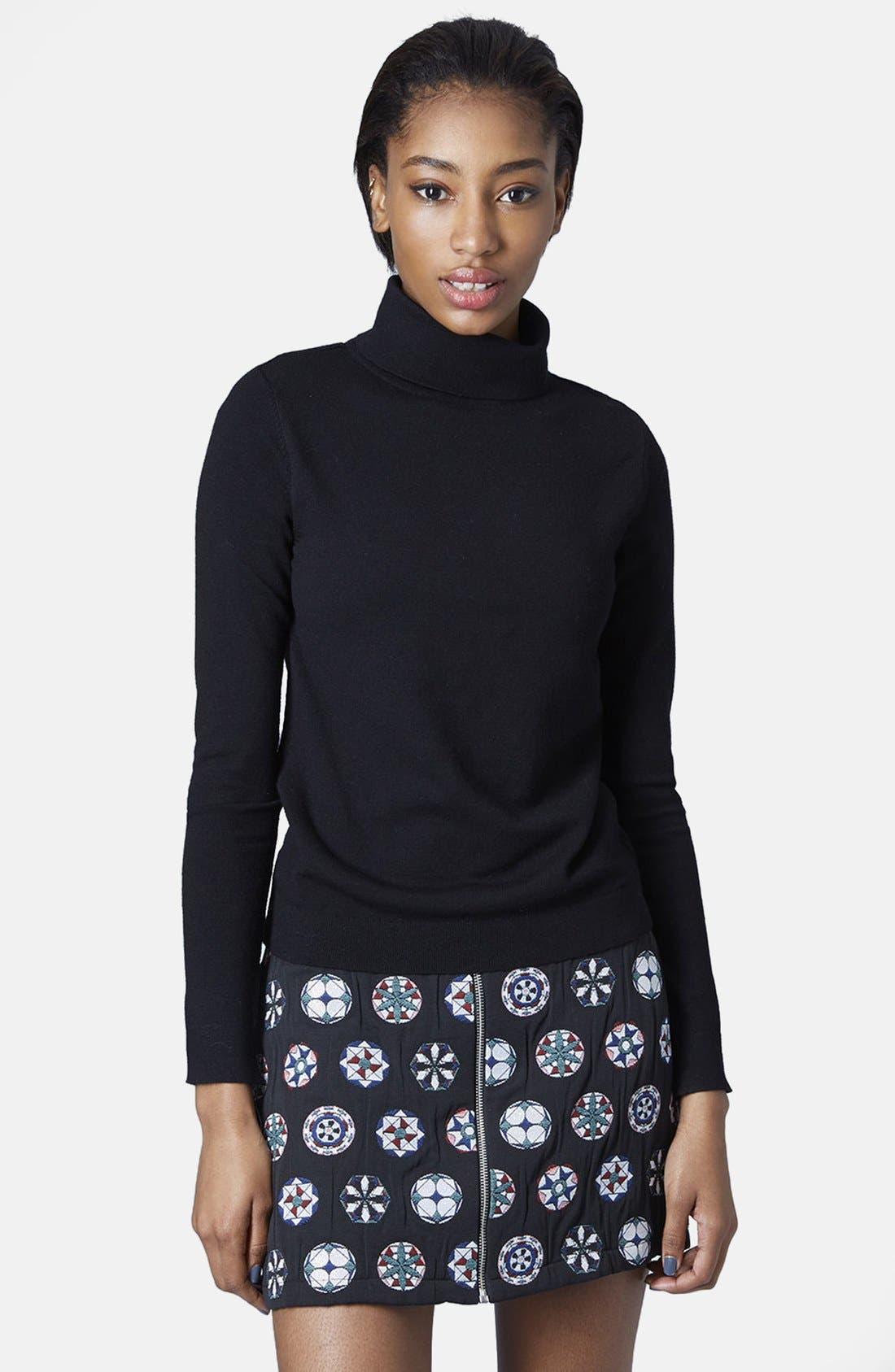 Funnel Neck Pullover,                             Main thumbnail 1, color,                             001