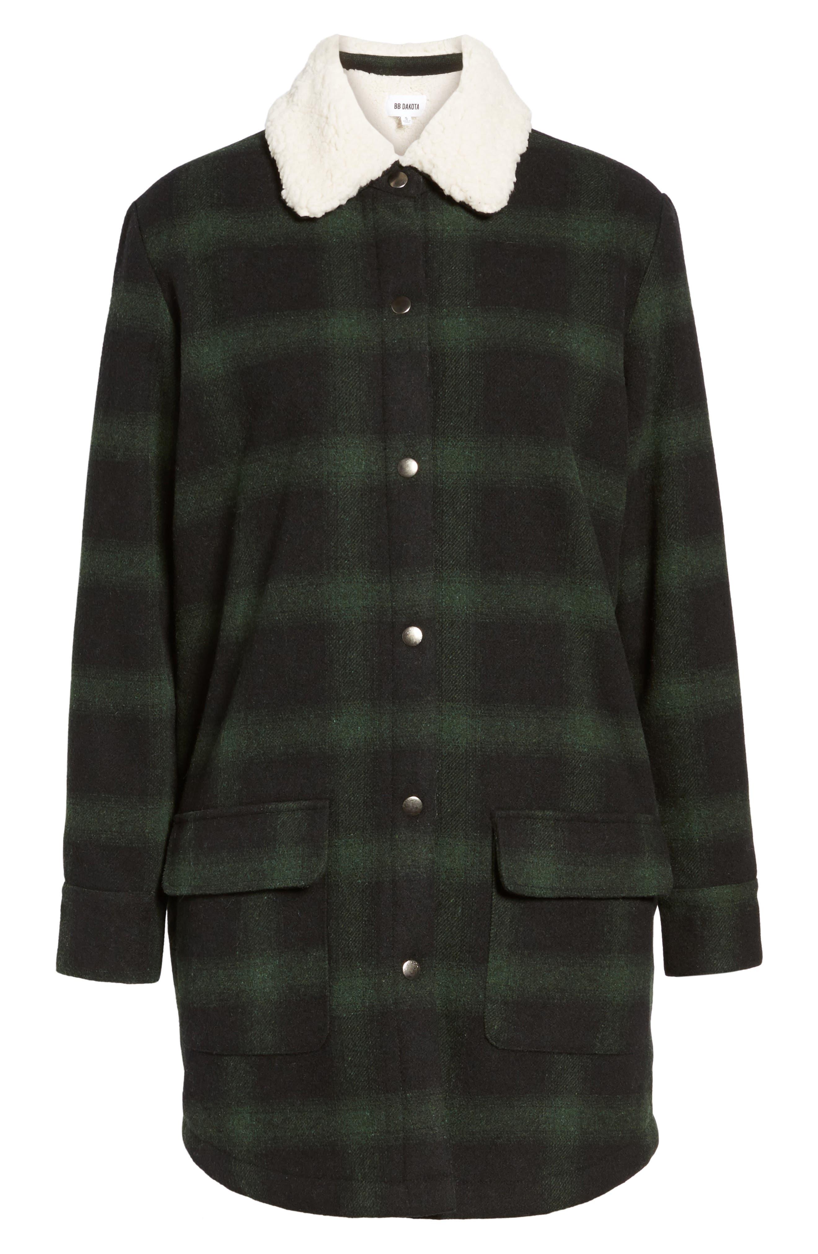 Bradley Fleece Lined Plaid Coat,                             Alternate thumbnail 5, color,                             301
