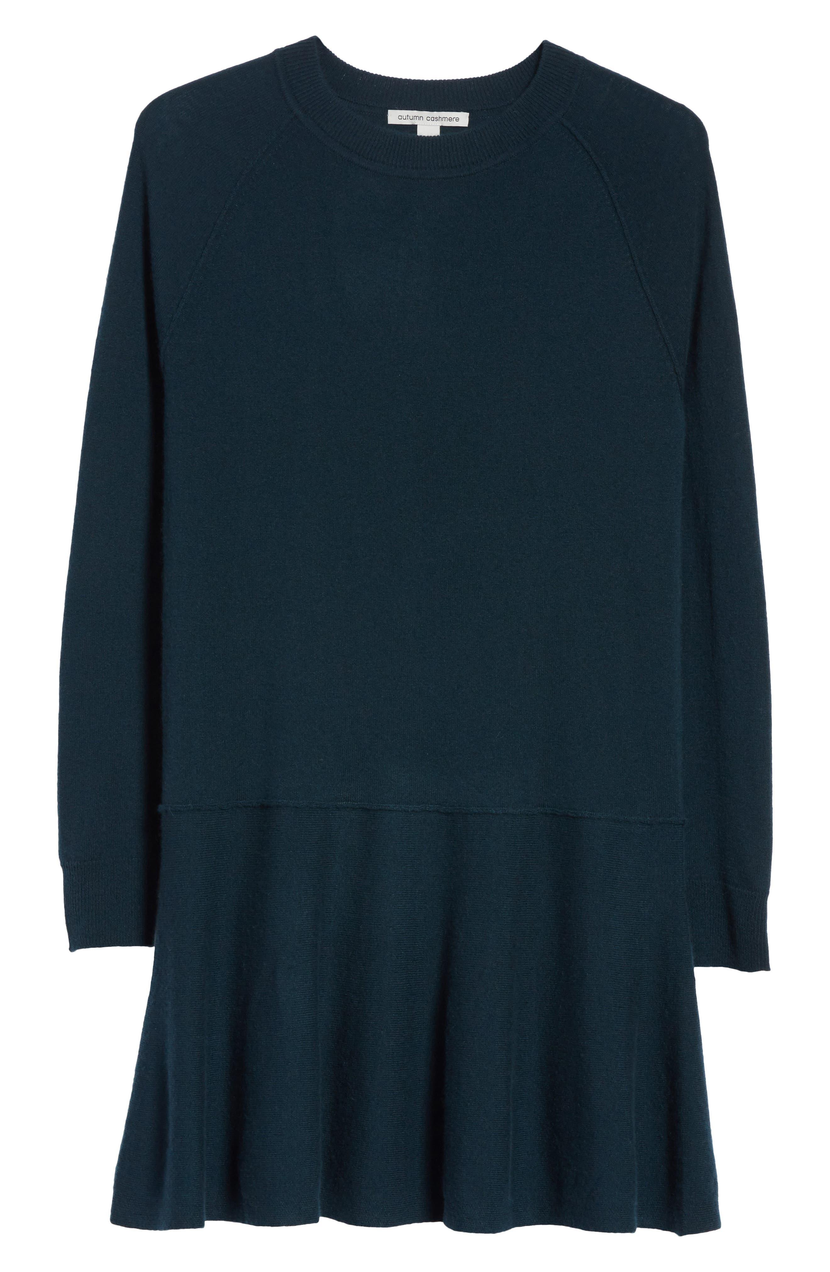 Cashmere Drop Waist Sweater Dress,                             Alternate thumbnail 12, color,