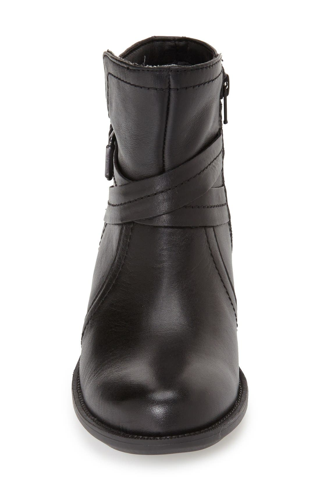 Caroline Waterproof Boot,                             Alternate thumbnail 3, color,                             BLACK LEATHER