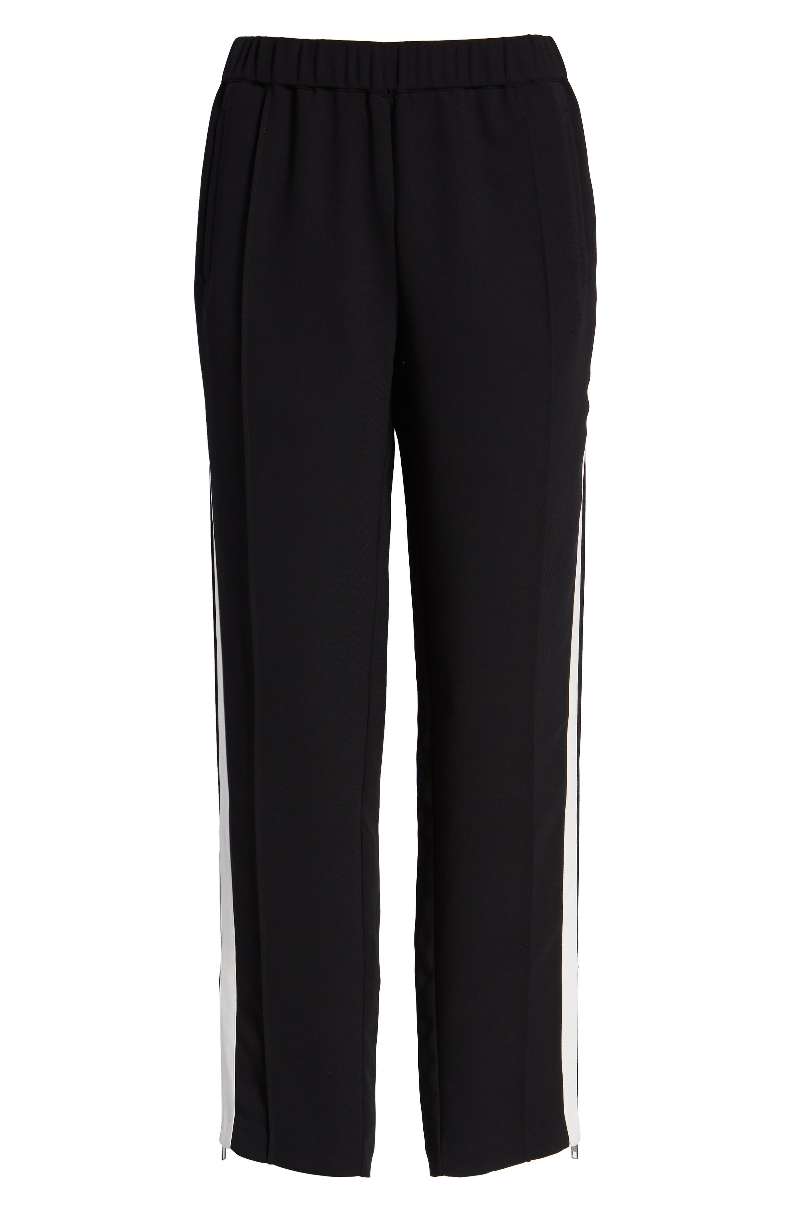 Side Stripe Track Pants,                             Alternate thumbnail 6, color,                             BLACK COMBO
