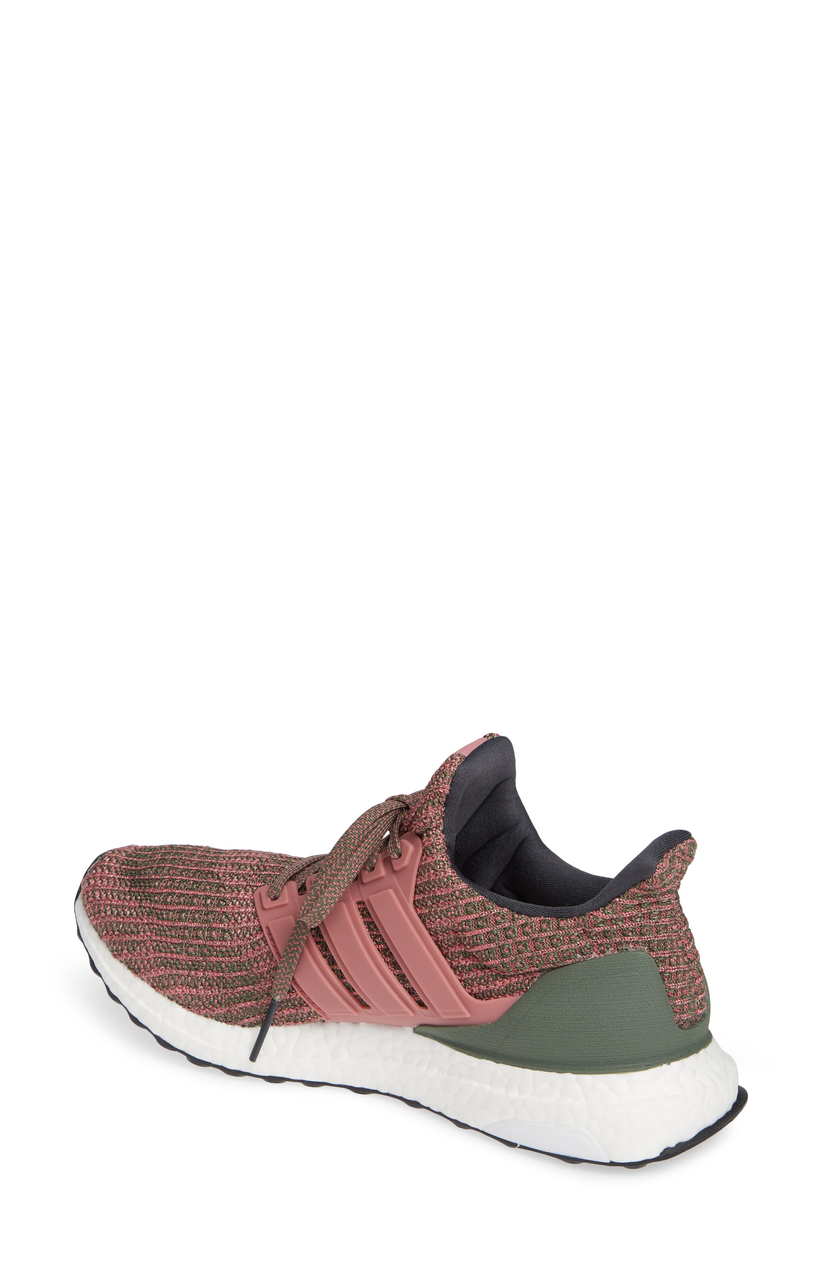 'UltraBoost' Running Shoe,                             Alternate thumbnail 2, color,                             TRACE MAROON/ BASE GREEN