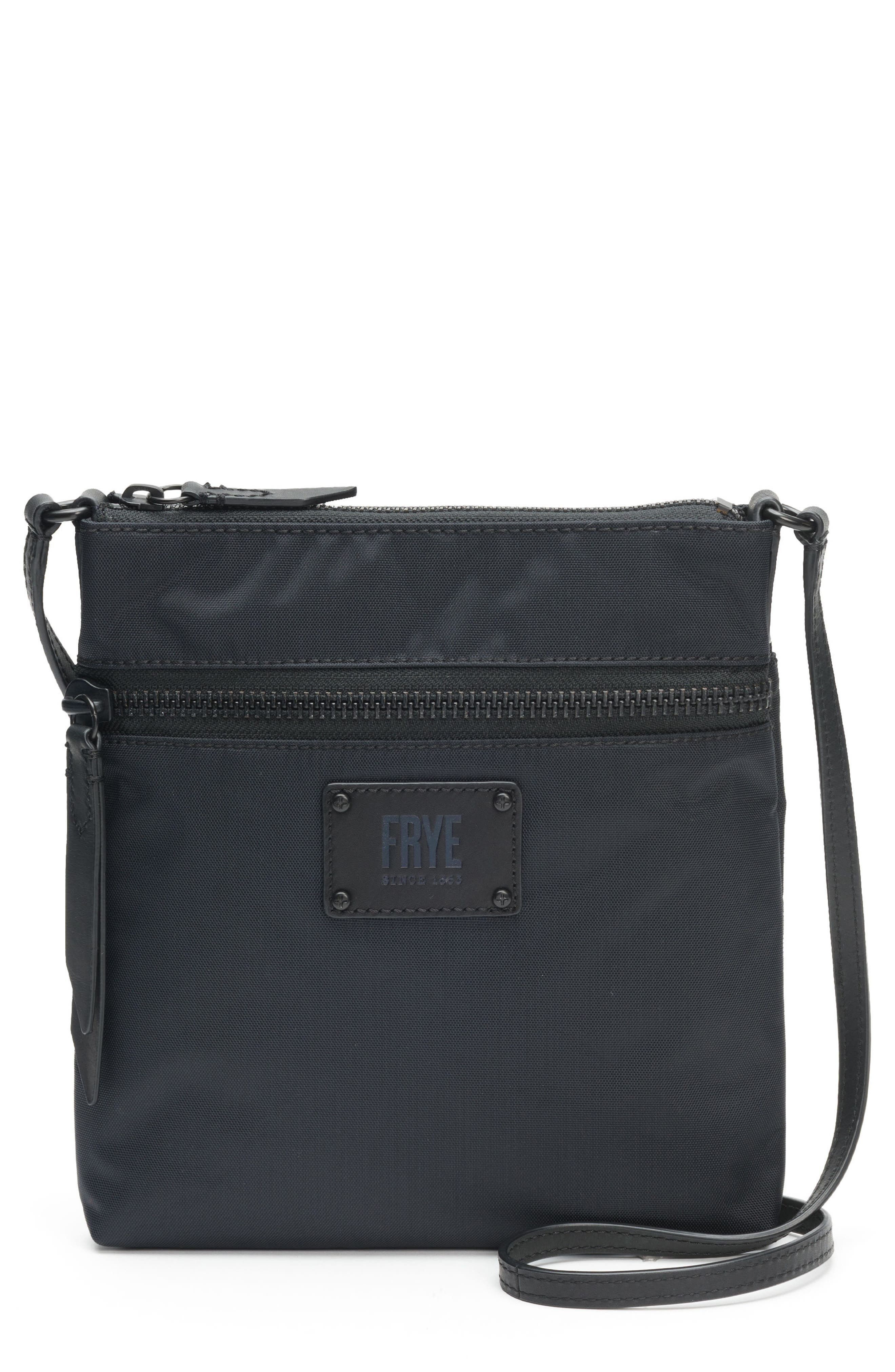 Ivy Nylon Crossbody Bag,                             Main thumbnail 1, color,                             MATTE BLACK